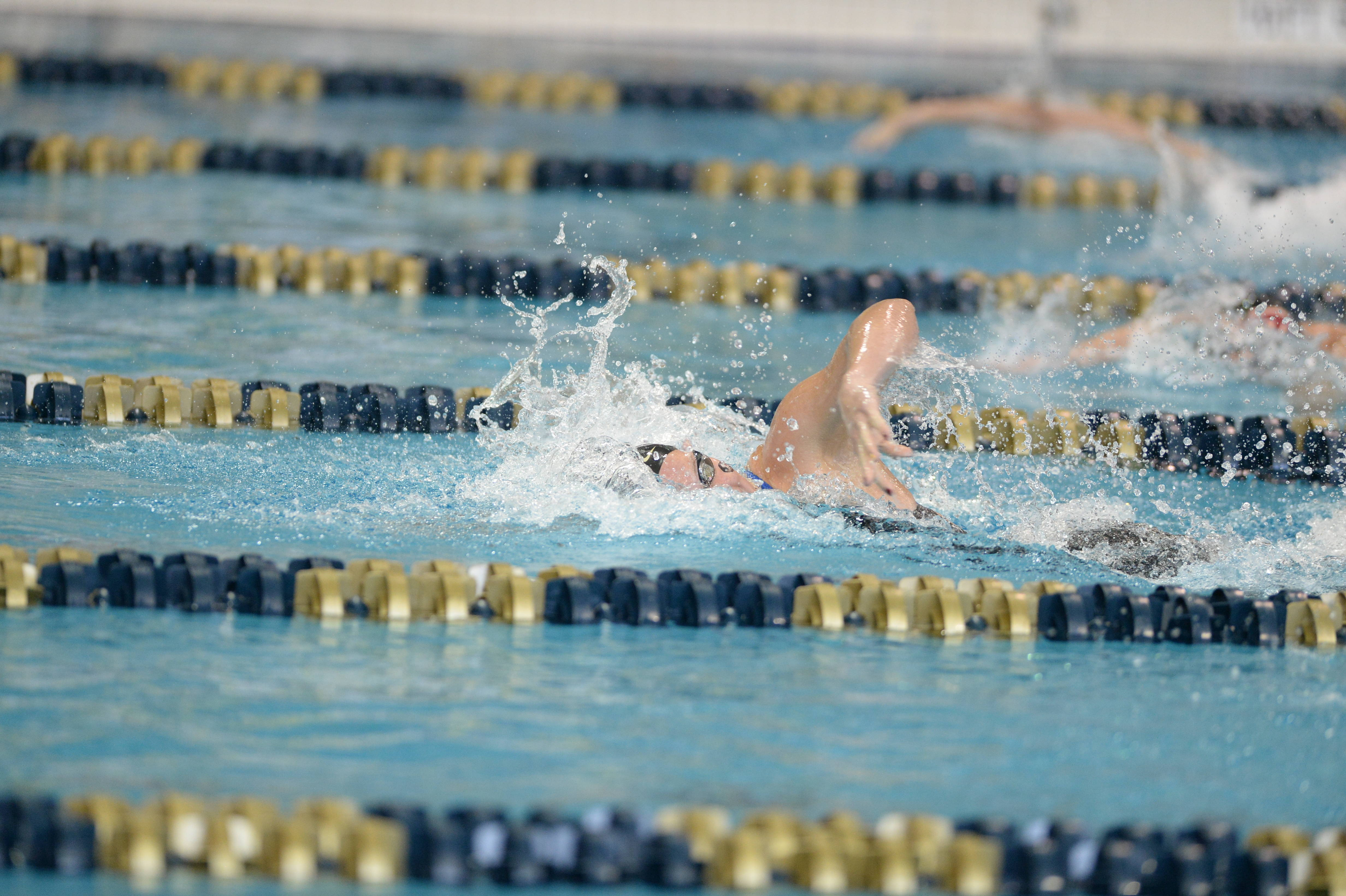Kaitlyn Dressel builds a lead in the 200 free - Mitch White
