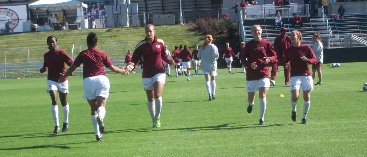 The Seminoles getting loose before the start of Wednesday's game.