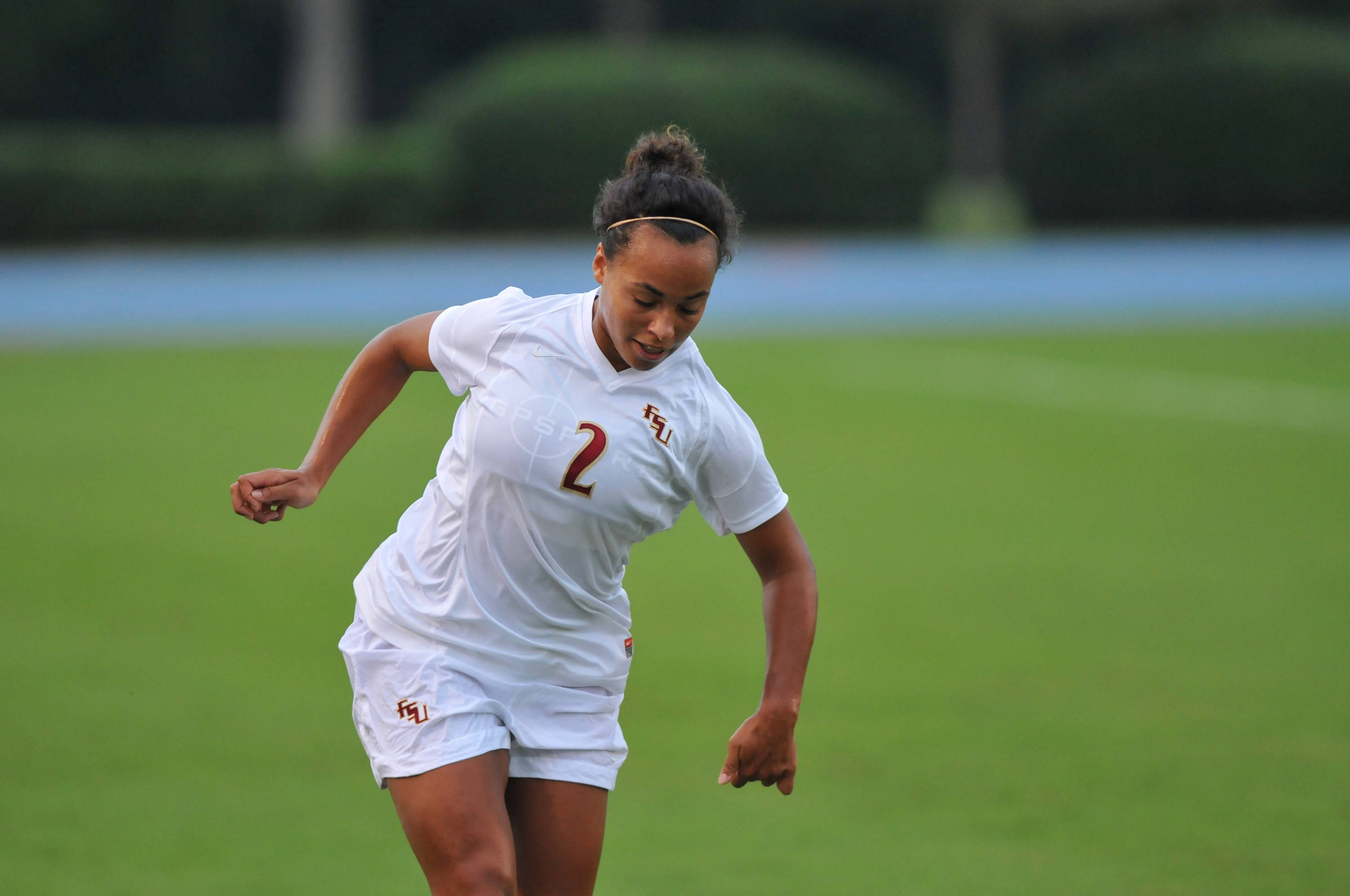 Ines Jaurena on the ball in the first half against Florida.