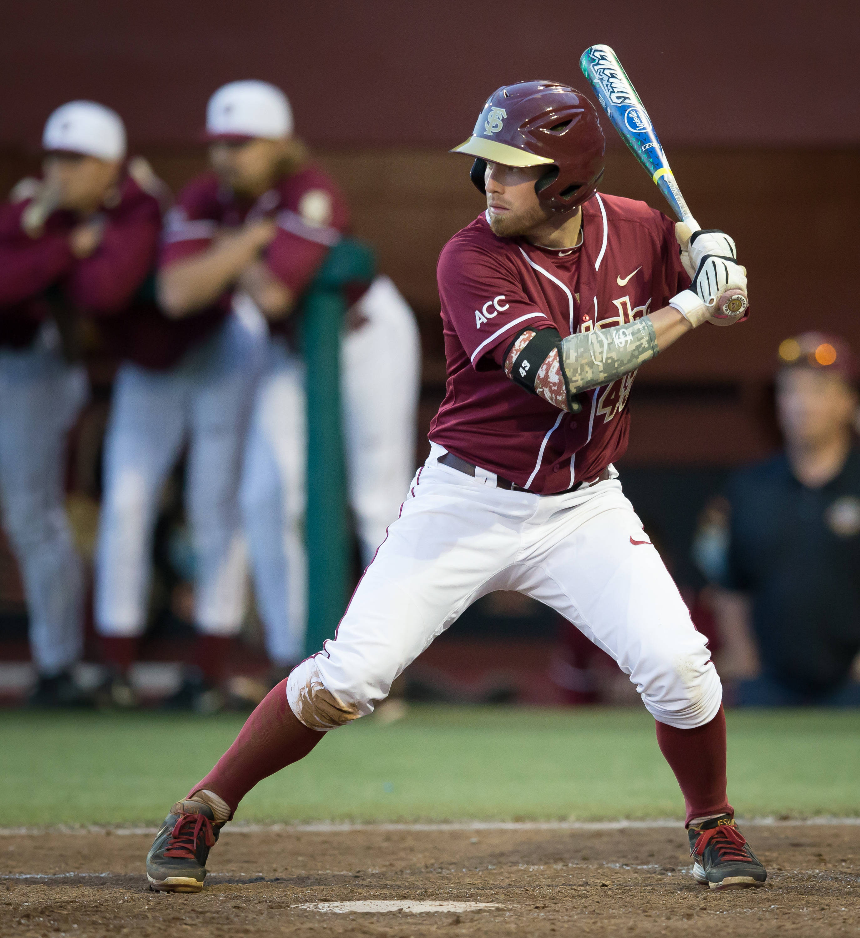 Casey Smit (43) connected for 2 of FSU's hits.