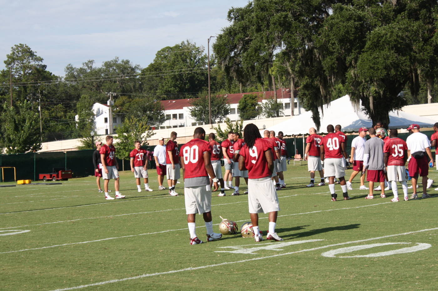Football Practice #2: August 8th, 2009 (Courtesy of Seminoles.com)