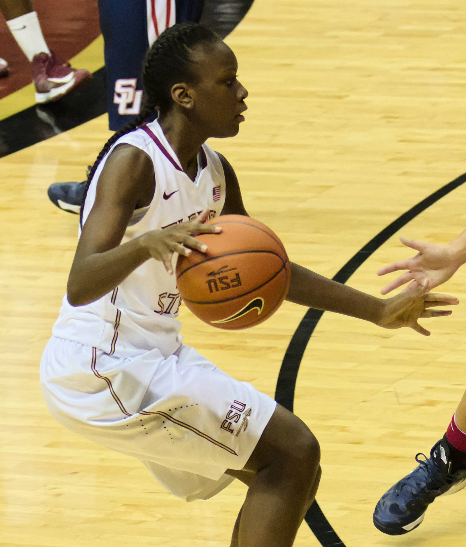 Jakelle King-Gilchrist (12), FSU vs Samford, 11/11/12. (Photo by Steve Musco)