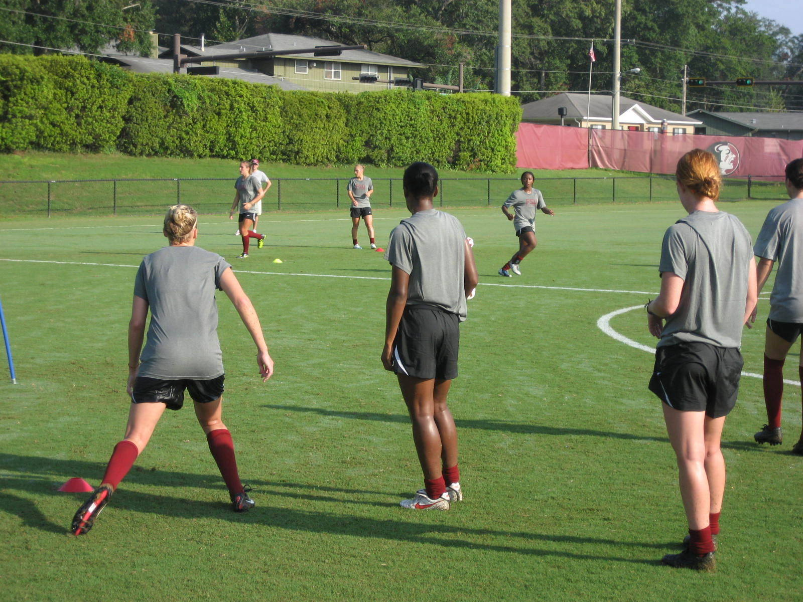 First day of practice for the Seminole Soccer team.
