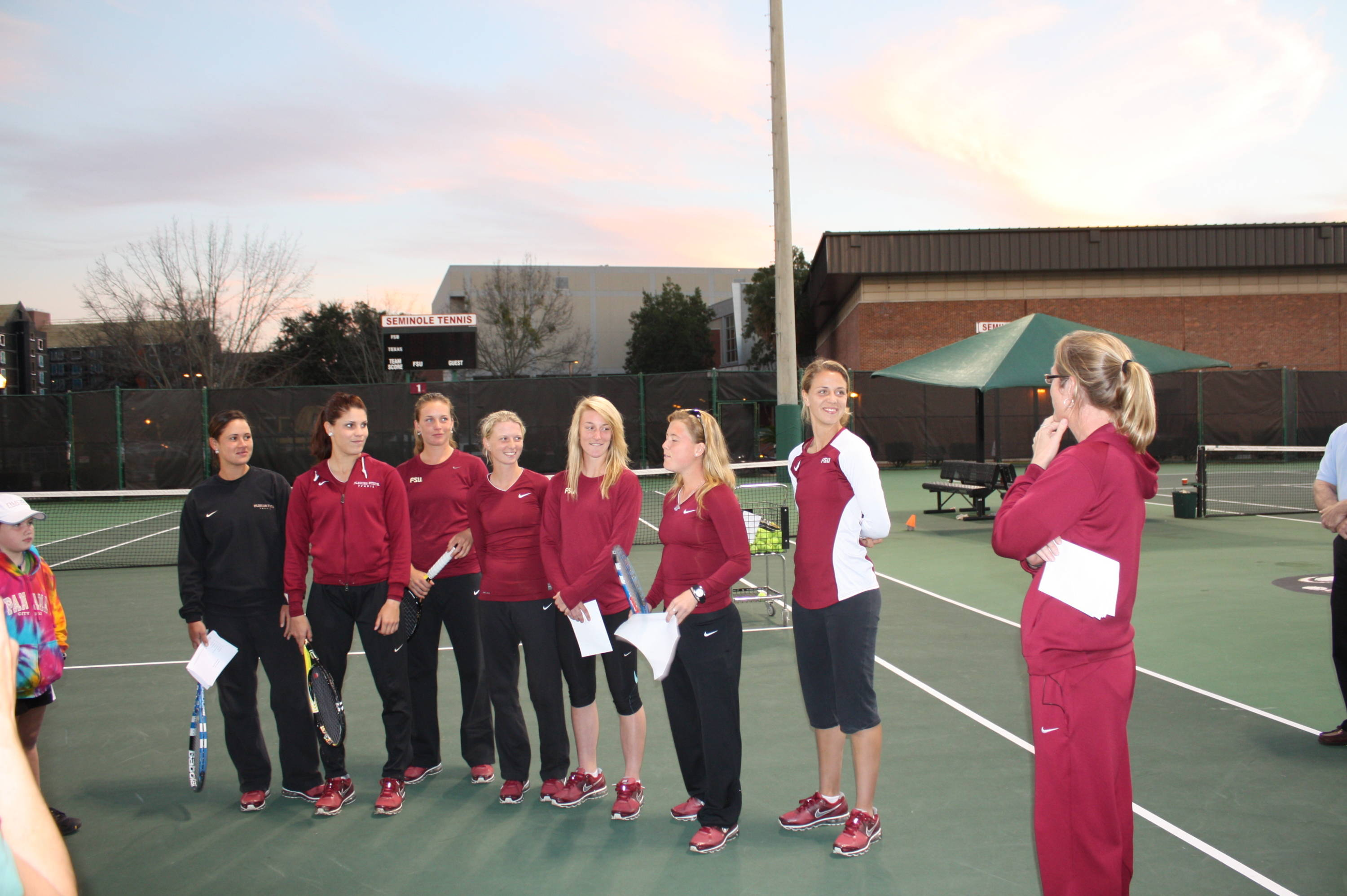 Women's tennis team introduces themselves