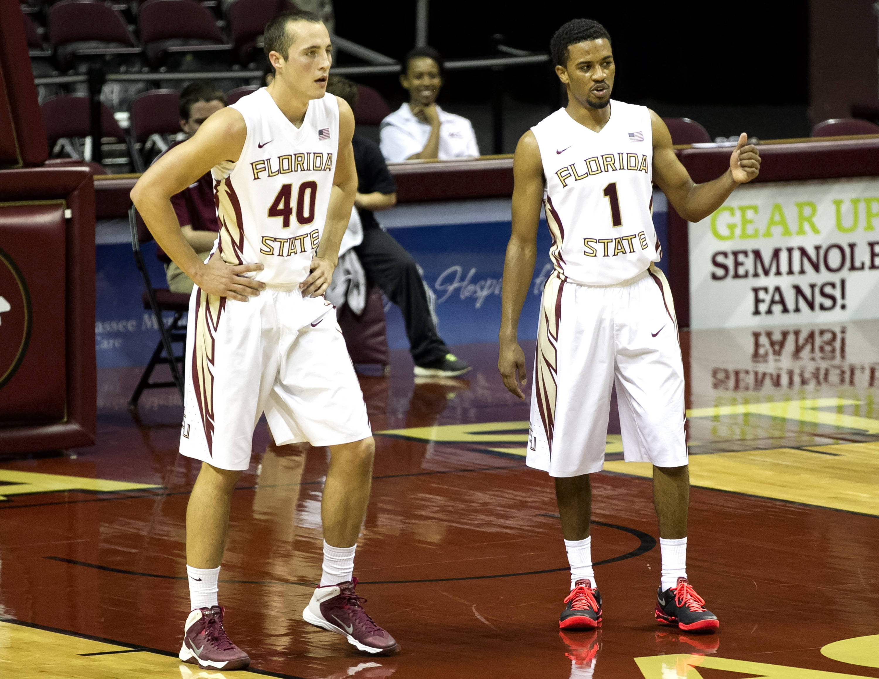 Brandon Allen, Devon Bookert, FSU vs Flagler College,  11-4-13, (Photo by Steve Musco)