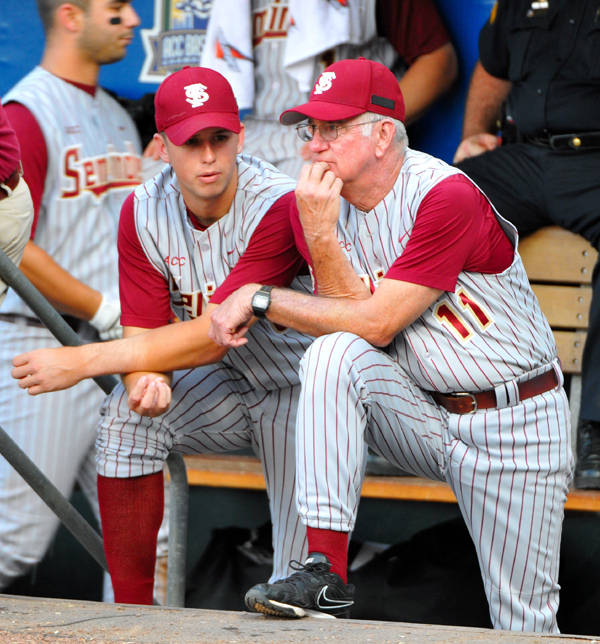 Buster Posey and head coach Mike Martin