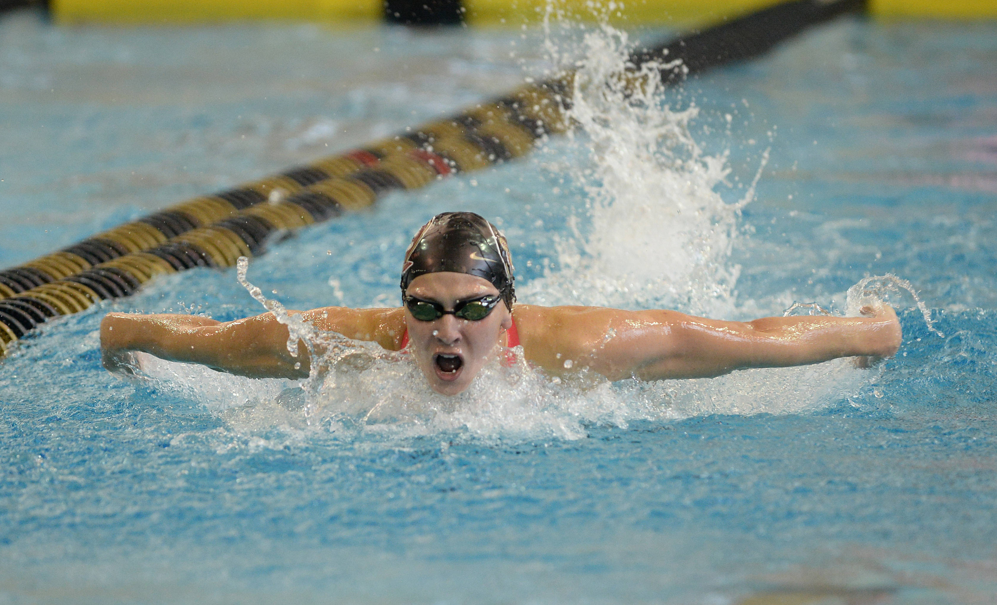 Chelsea Britt swims the 100 fly - Mitch White