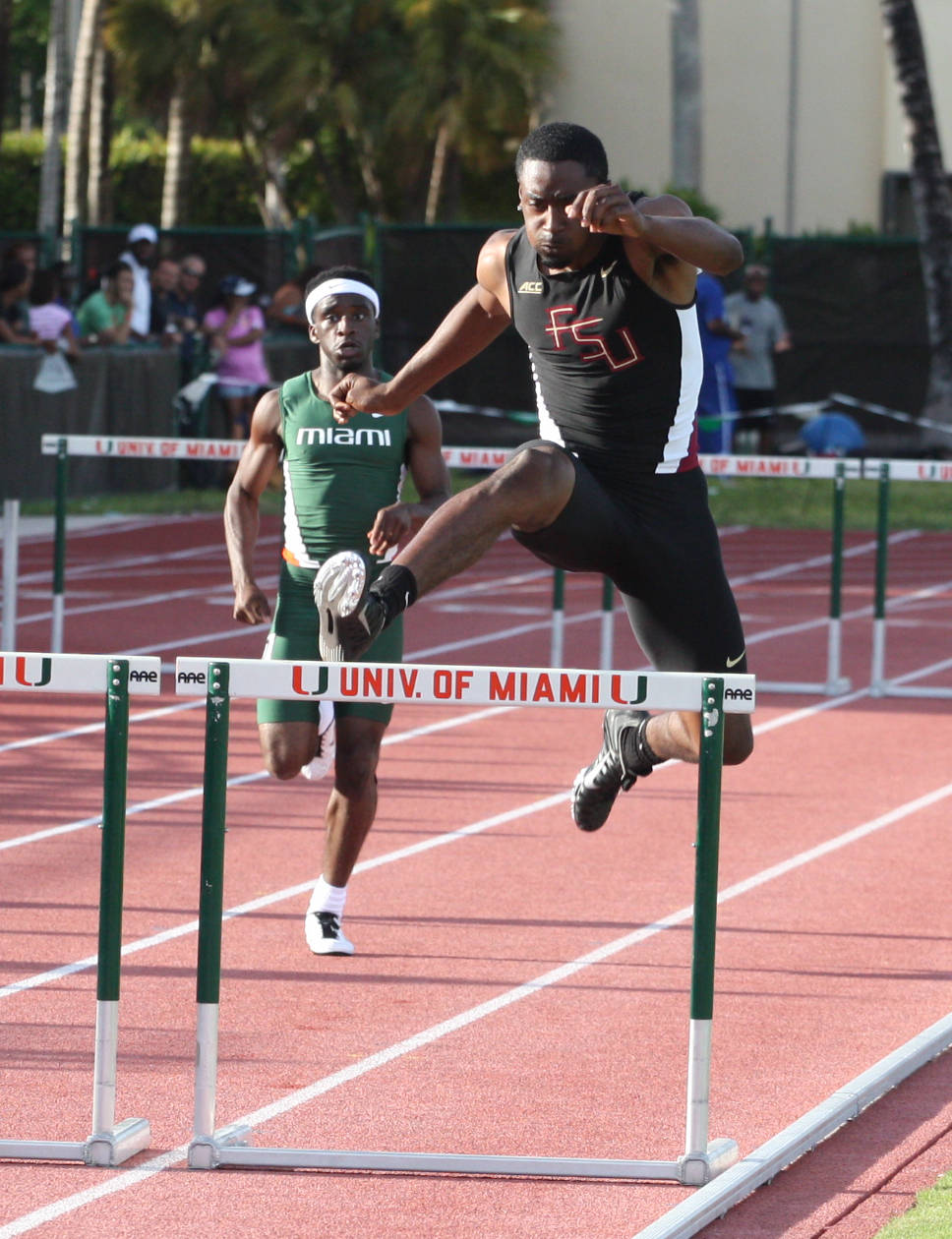 James Rhoden with another 400 hurdle PB.