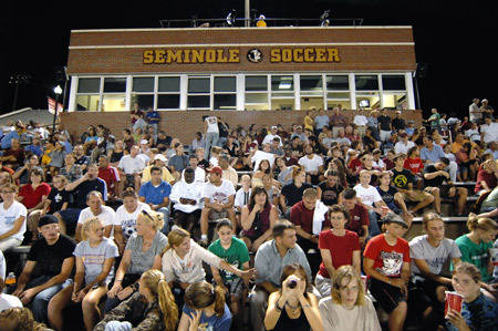 Fans at the Seminole Soccer Complex
