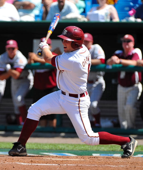 Tommy Oravetz tied a career-high with three hits against Stanford.