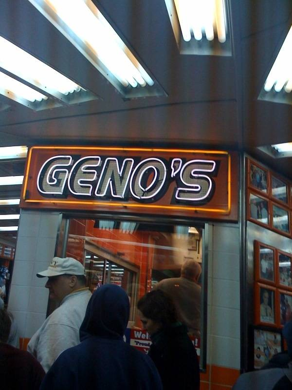 Geno's is one of the most famous cheesesteak spots in all of Philadelphia.