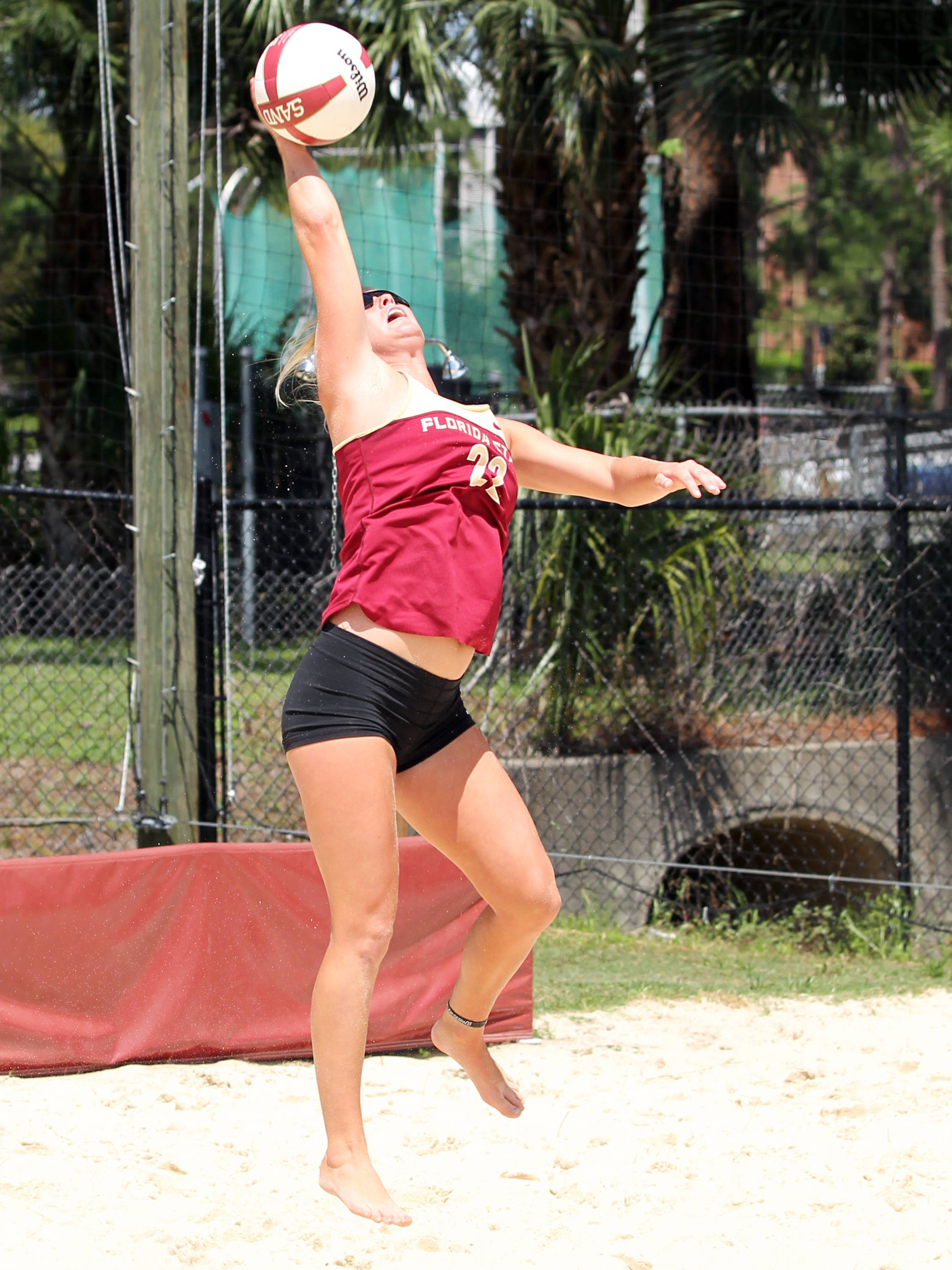 Blyss Harkness, Sand Volleyball Tournament,  04/20/13 . (Photo by Steve Musco)