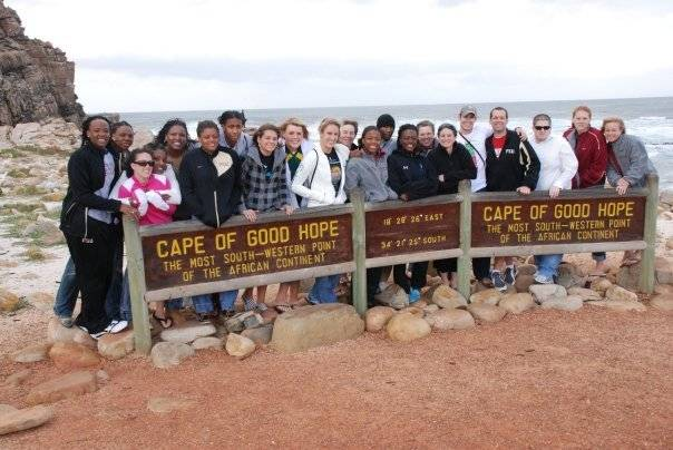 August 25 ... From current to former players, coaches and staff members, alike, the FSU women's basketball program is one big family. Here the team is pictured during their trip to South Africa in 2009.