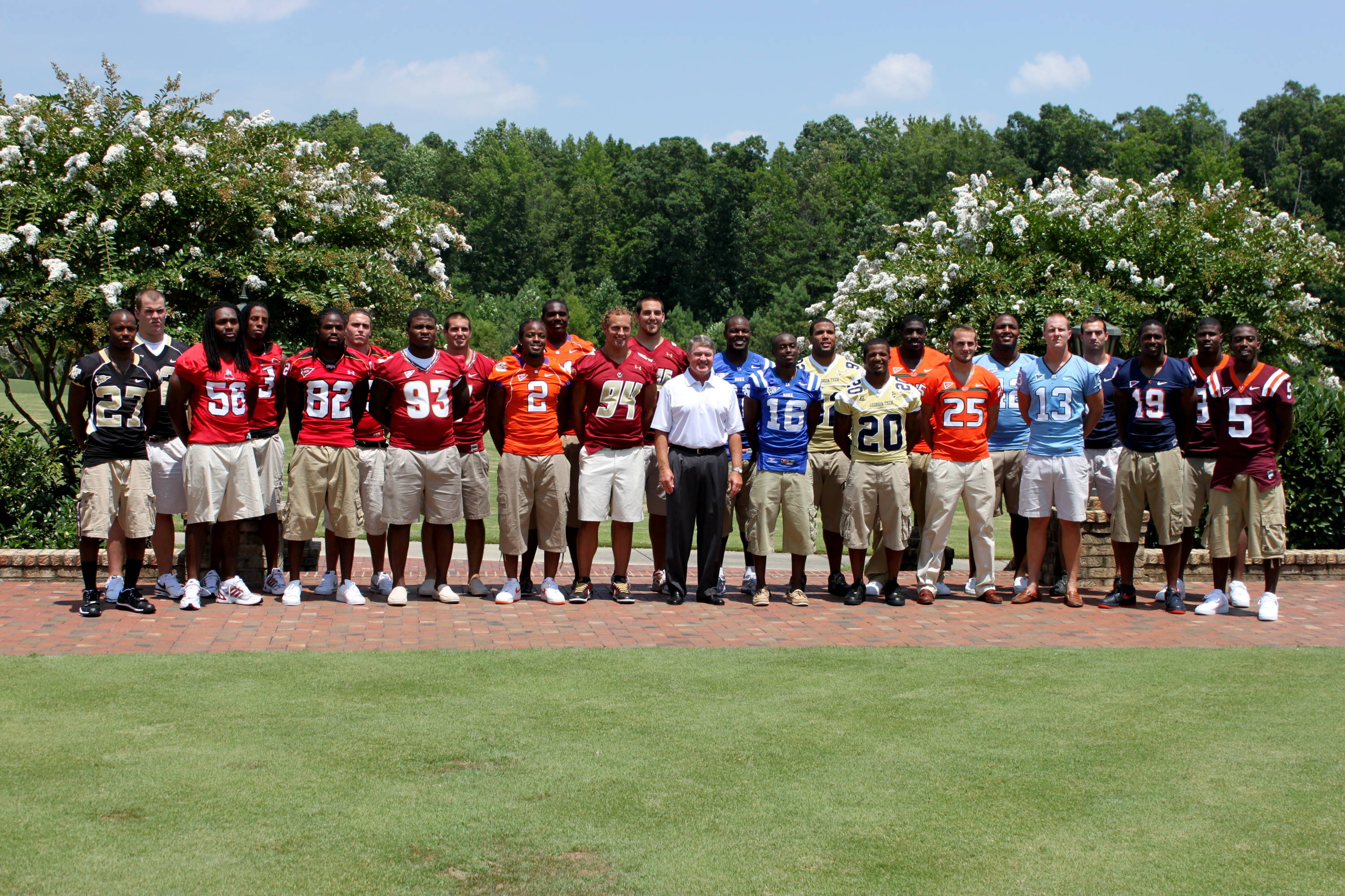 All of the student-athletes at the 2010 ACC Football Kickoff.