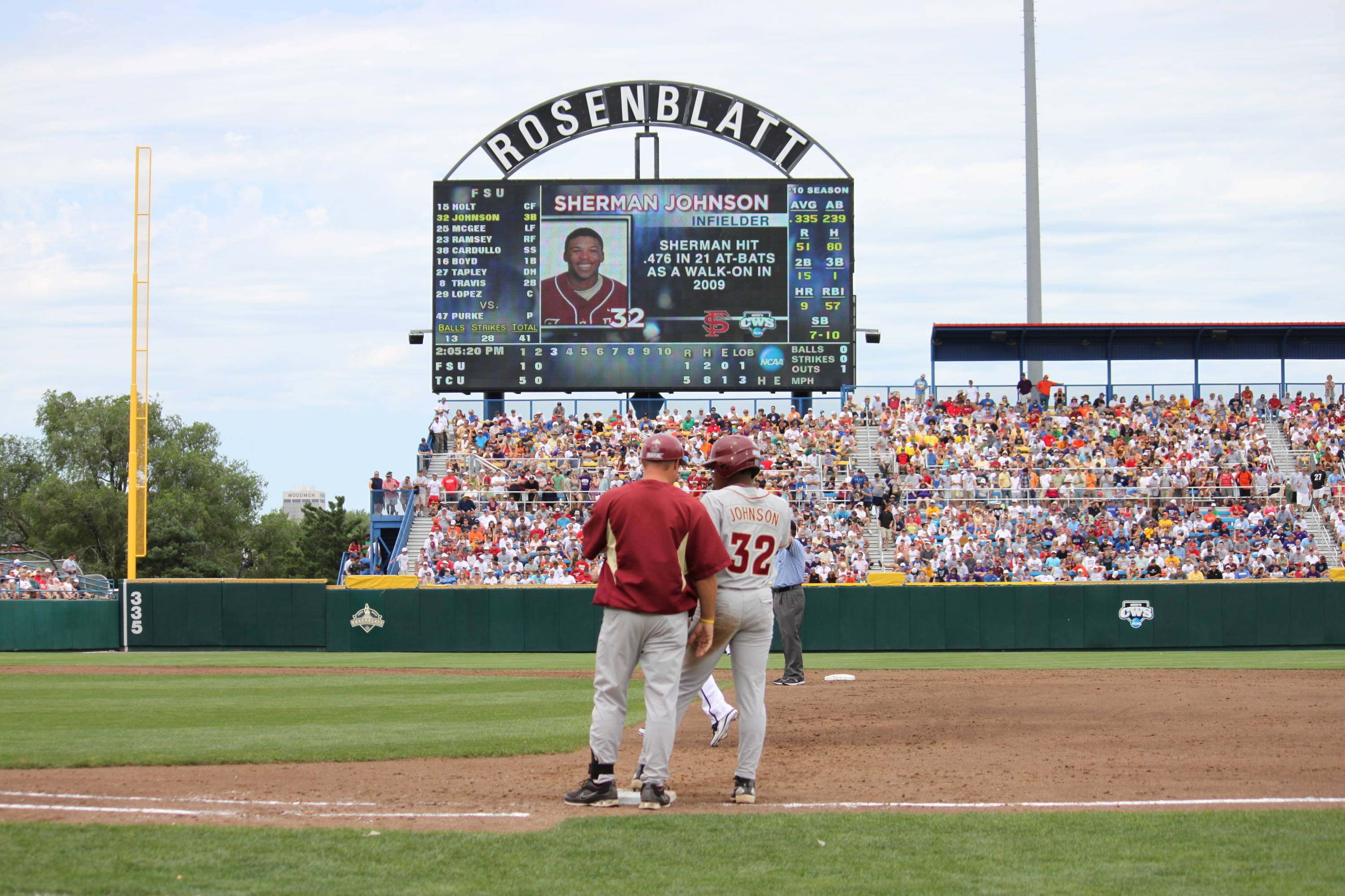 2010 College World Series Game 1 vs. TCU