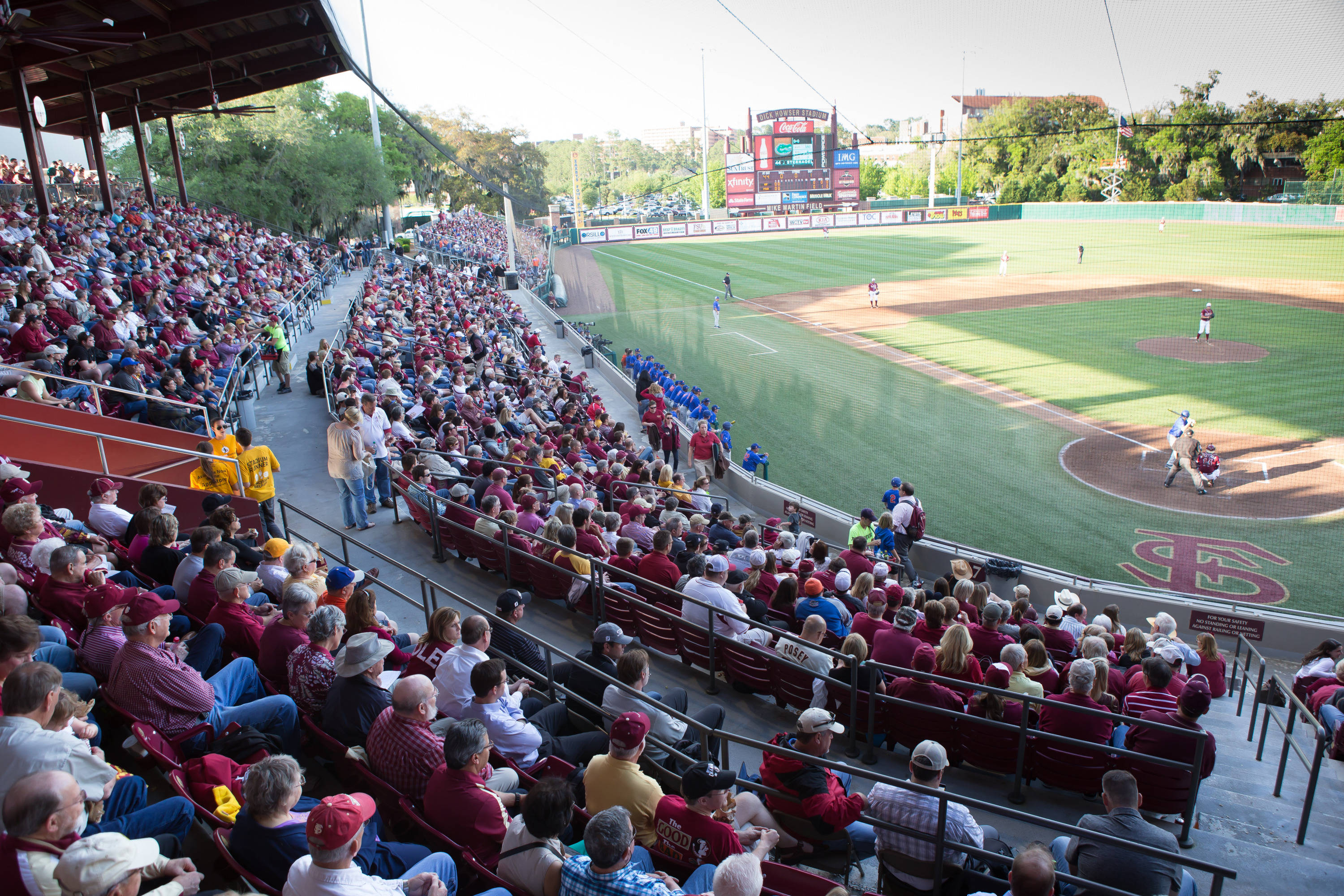 Over 6000 fans gathered for the Tuesday night match up with the Gators.