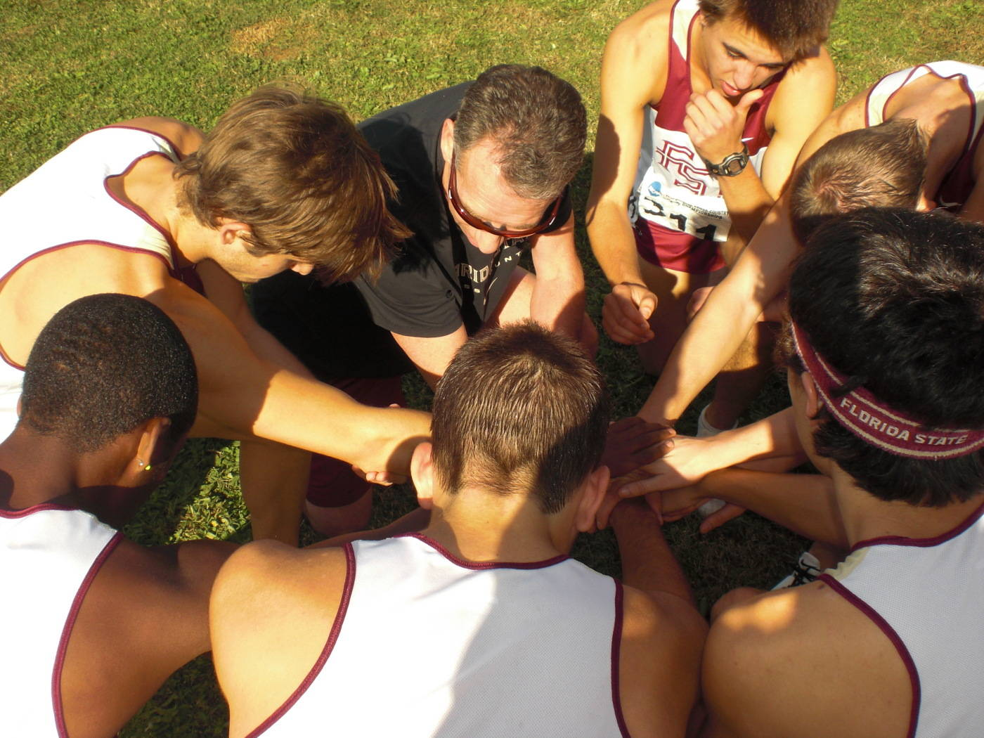 The men's cross country team.