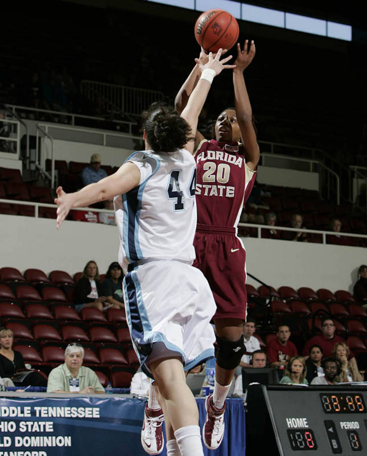 Tanae Davis-Cain made shots from all over the floor, including four three-pointers.