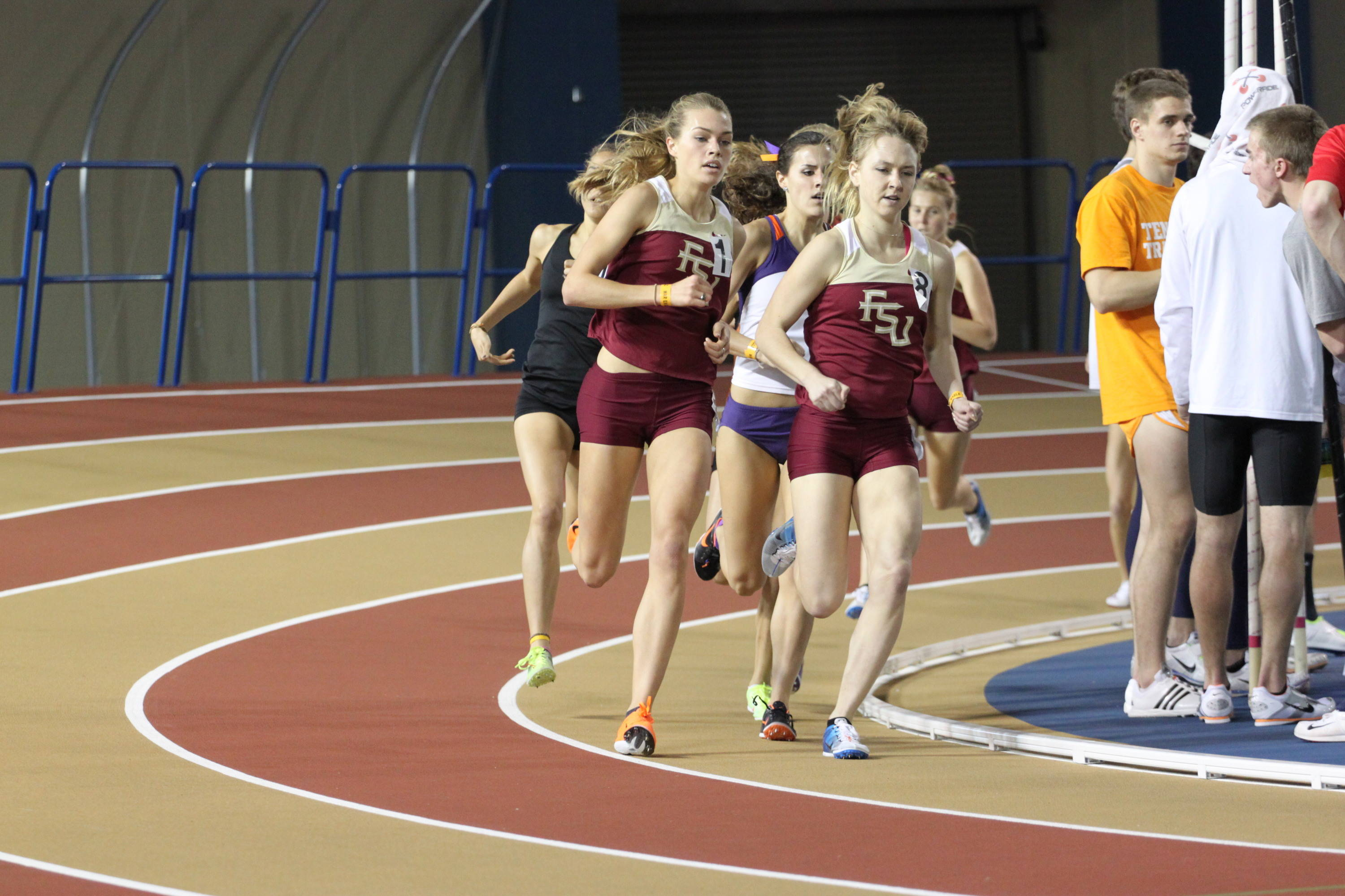 FSU freshman Colleen Quigley and Aubree Worden finished 1-2 in the mile run, posting personal best times of 4:47 and 4:49, respectively.
