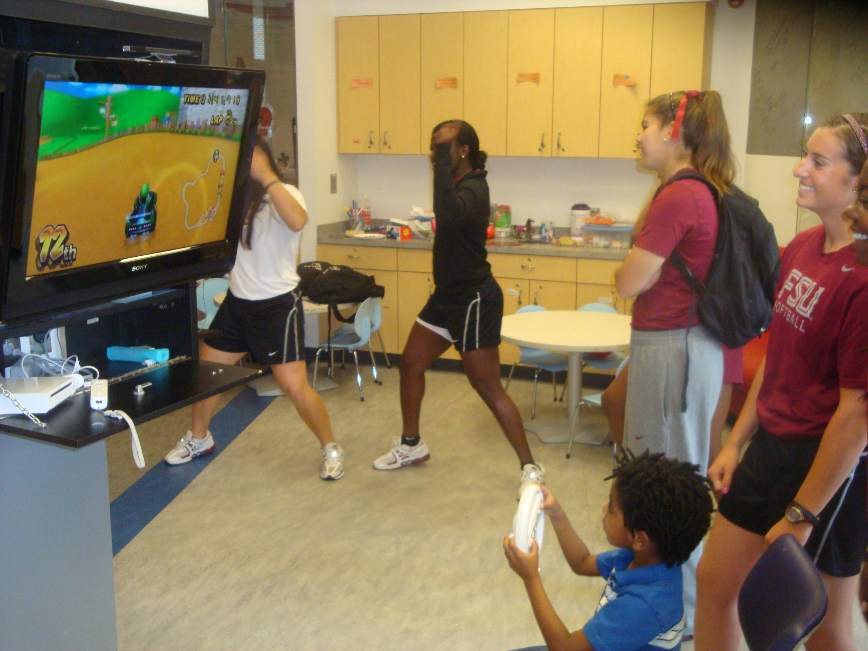 Fact: Mario Kart has changed over the years. Another Fact: Celeste Gomez and Morgan Bullock are trying really hard to move like the King of Pop himself
