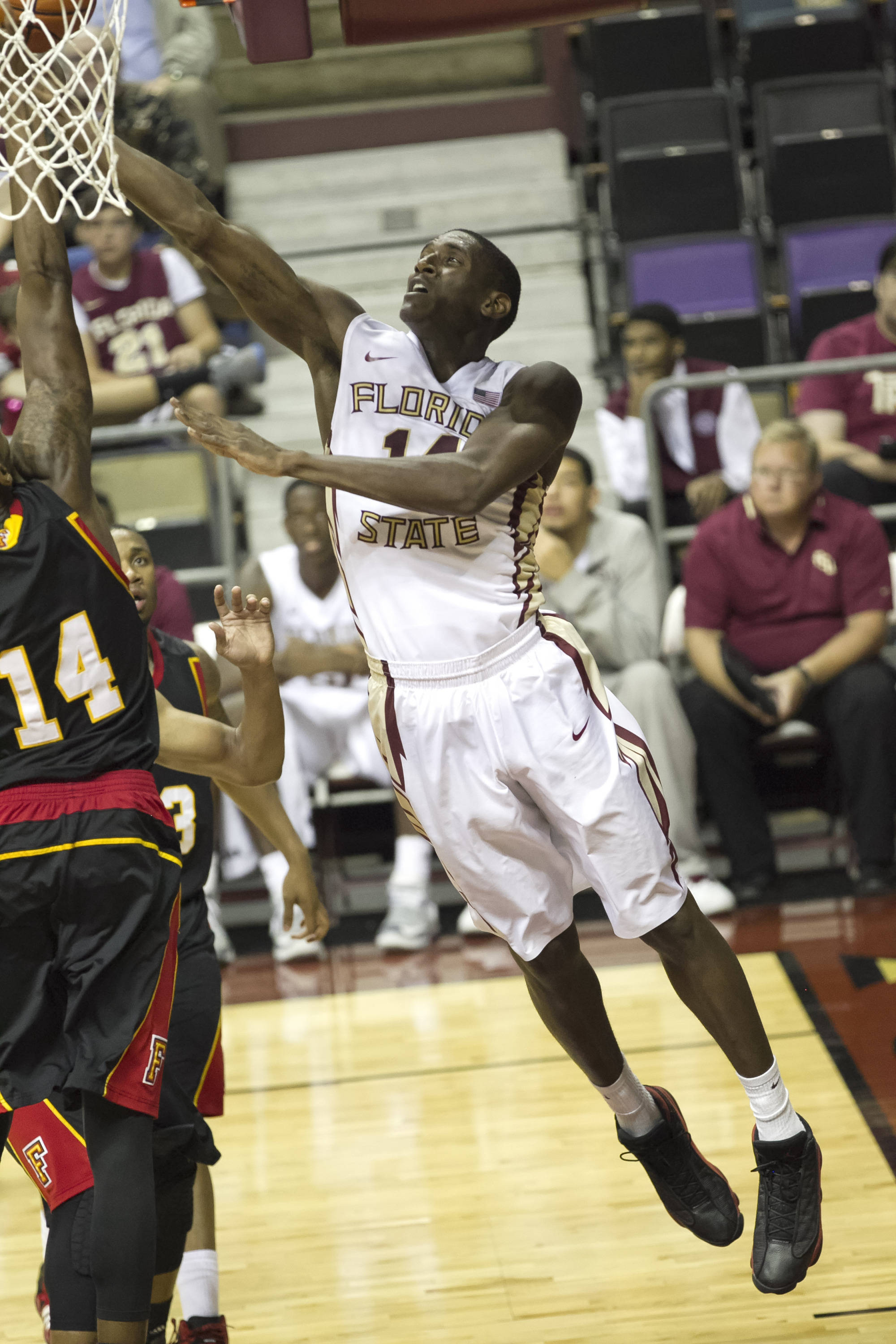 Robert Gilchrist, FSU vs Flagler College,  11-4-13, (Photo by Steve Musco)