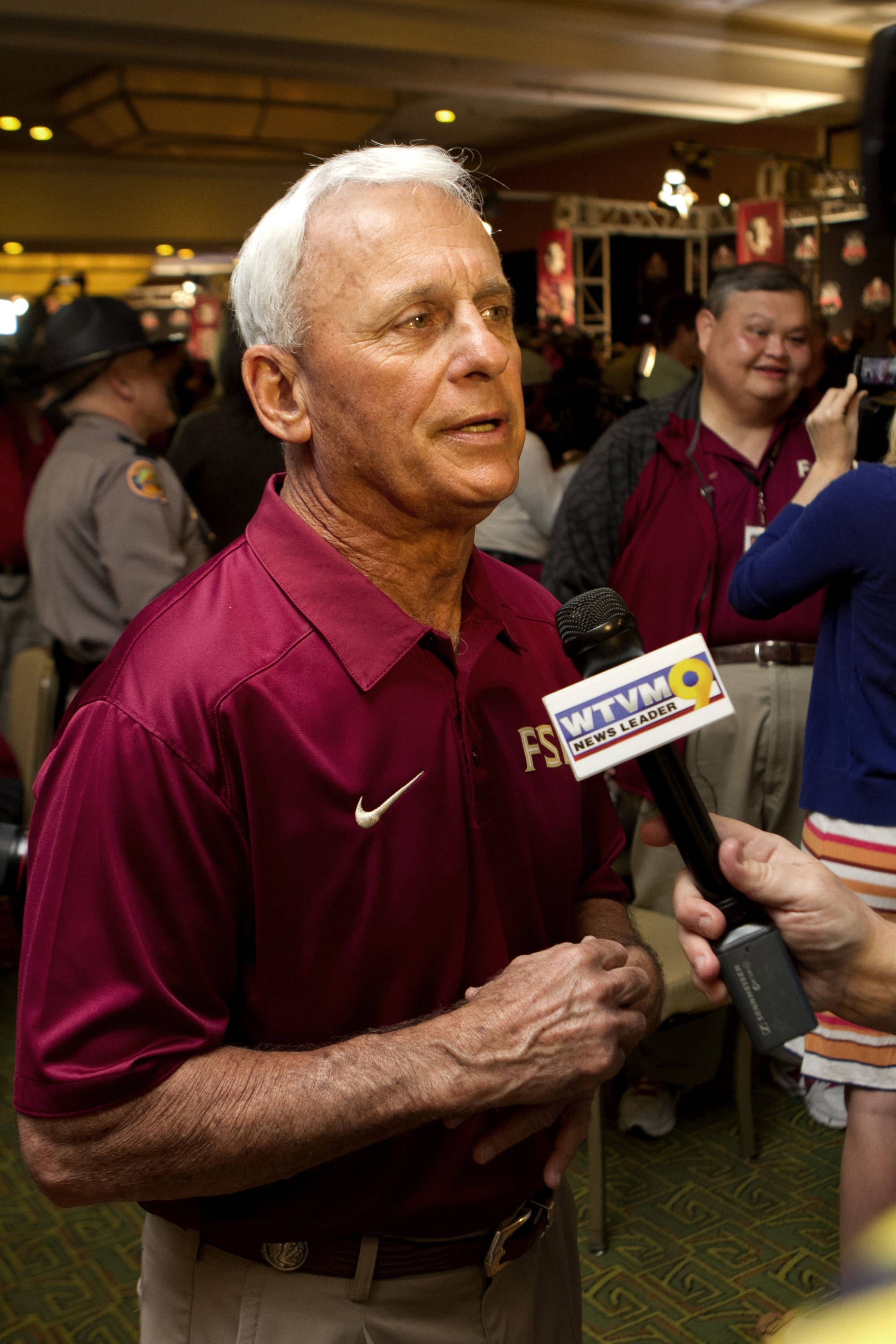 Assistant Head Coach and Offensive Line Coach Rick Trickett, FSU at BCS Championship Media Day,  1-04-14,  (Photo by Steve Musco)