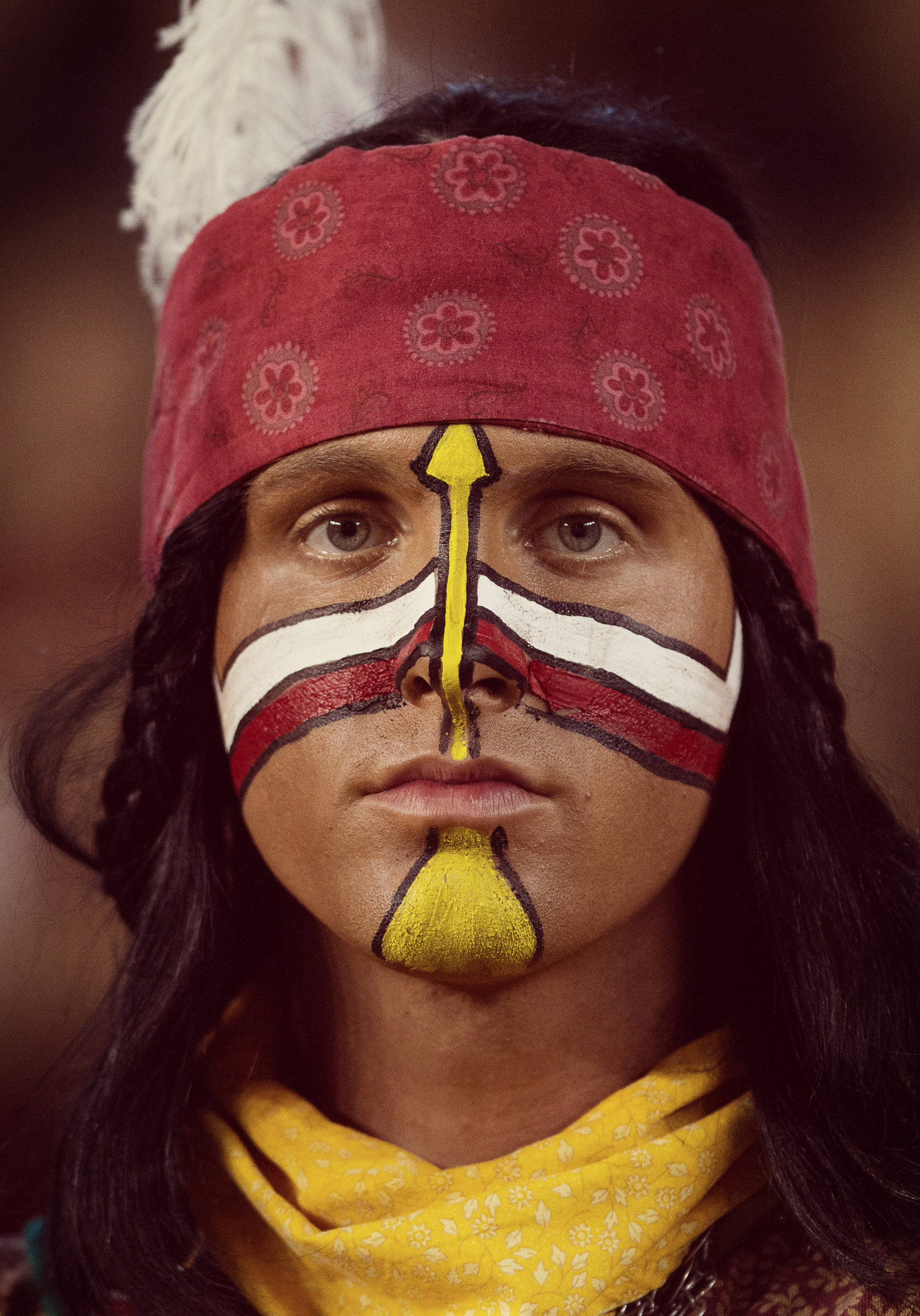 Osceola poses during FSU football's 41-14 win over Miami on Saturday, November 2, 2013 in Tallahassee, Fla. Photo by Michael Schwarz.