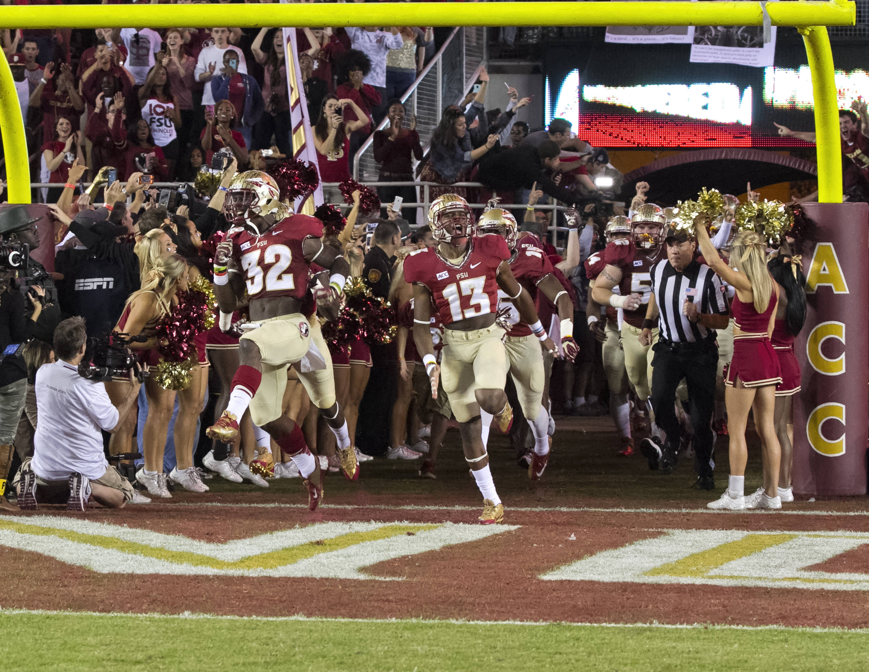 Game day excitement,  FSU vs Miami,  11-2-13, (Photo by Steve Musco)