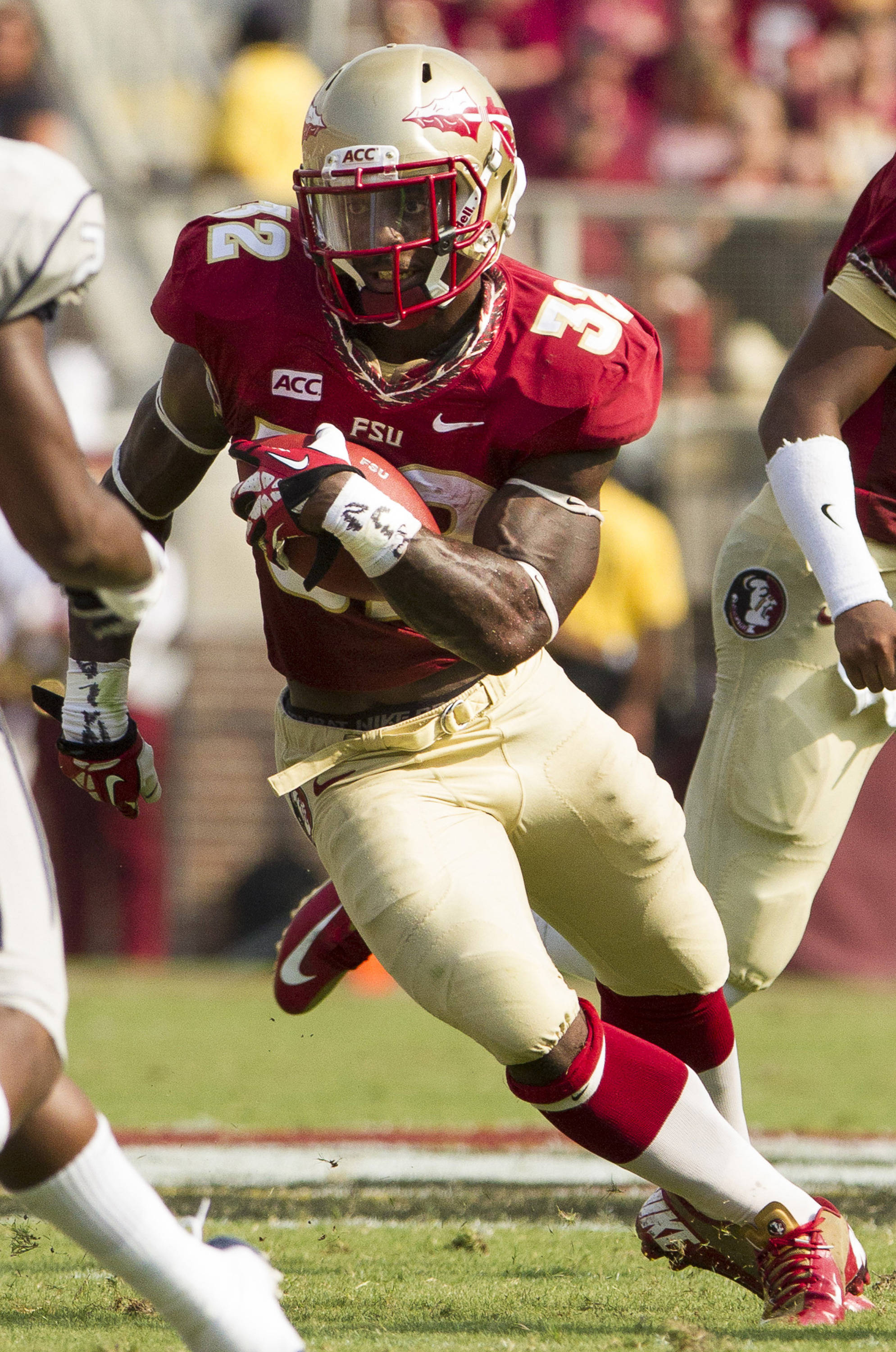 James Wilder Jr. (32) carries the ball during FSU's 62-7 win over Nevada on Saturday, Sept 14, 2013 in Tallahassee, Fla.