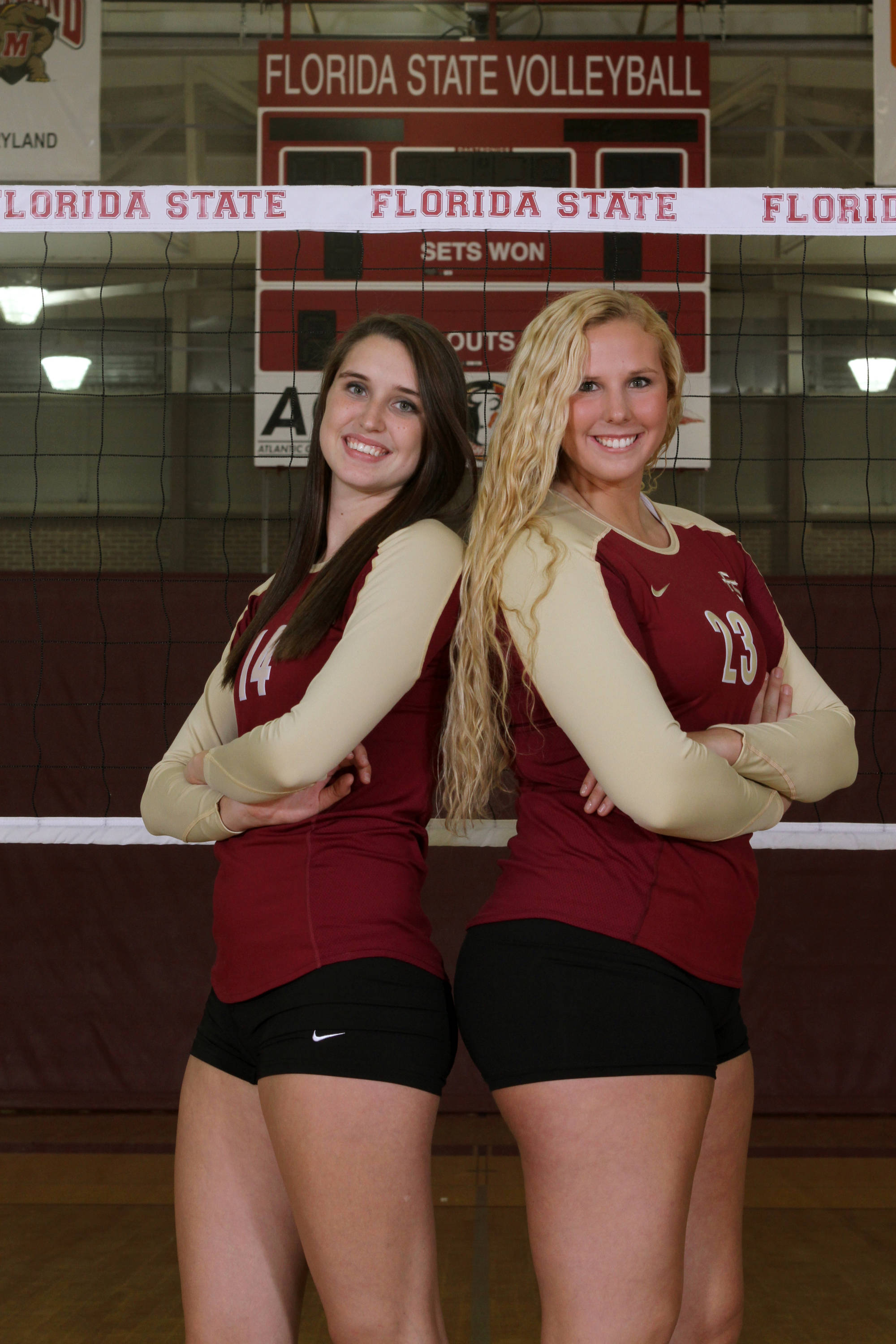 Sophomores Ashley Neff and Elise Walch are prepared to take on all challengers