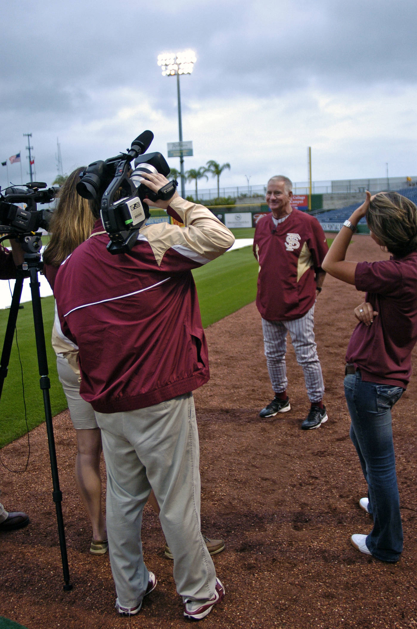 Coach Mike Martin takes time to answer a few questions