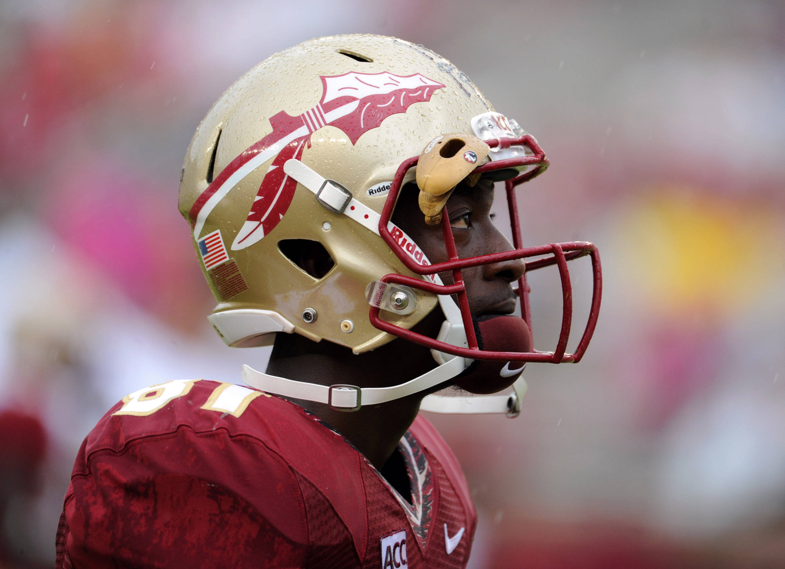 Florida State Seminoles wide receiver Kenny Shaw (81) before the start of the game against the Bethune-Cookman Wildcats. (Melina Vastola-USA TODAY Sports)
