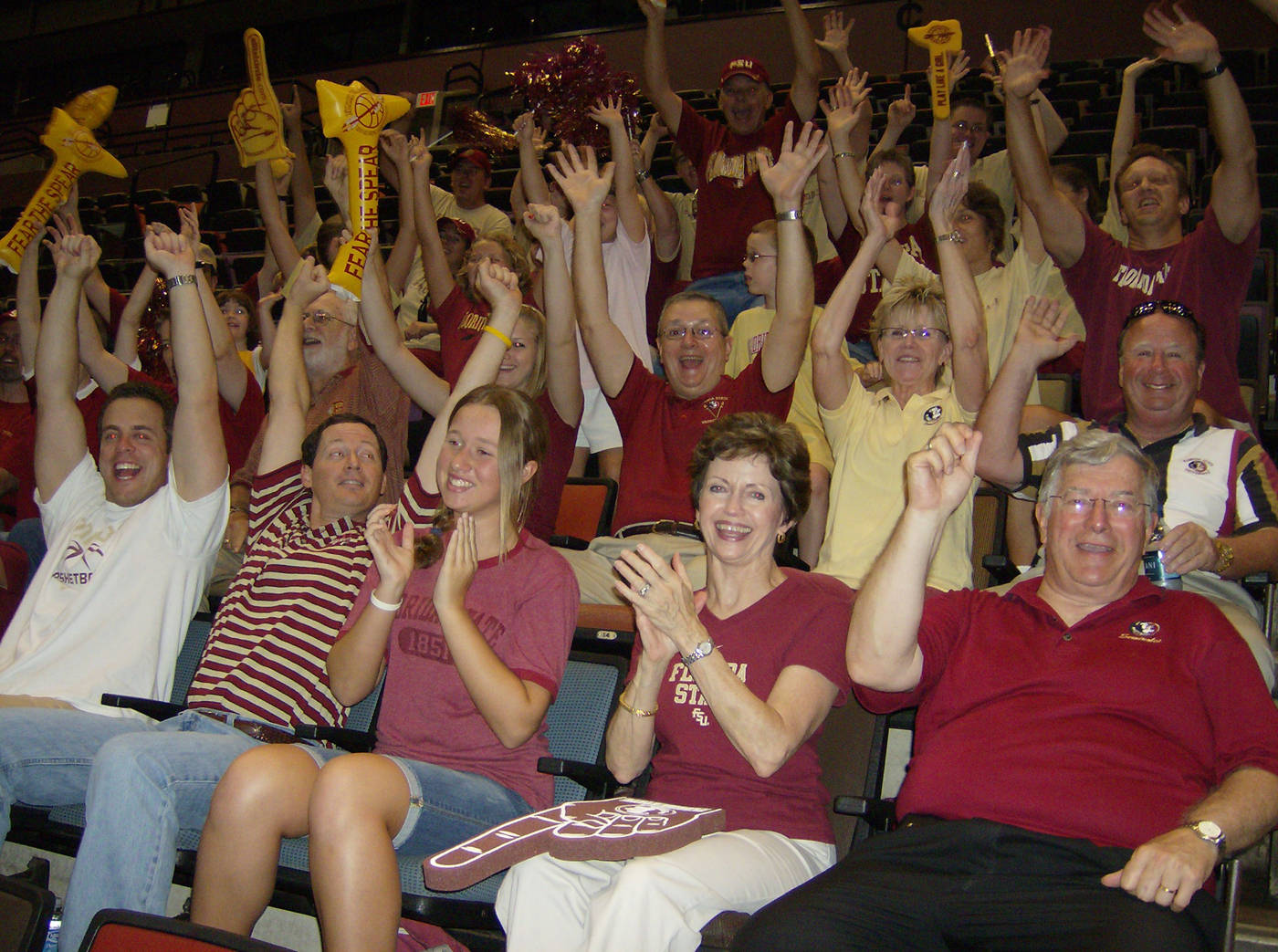 Fans inside the Tucker Center
