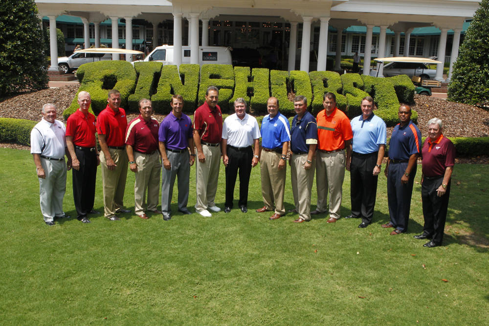 2011 ACC Football Kickoff - Group Photo of Coaches with Commissioner John D. Swofford