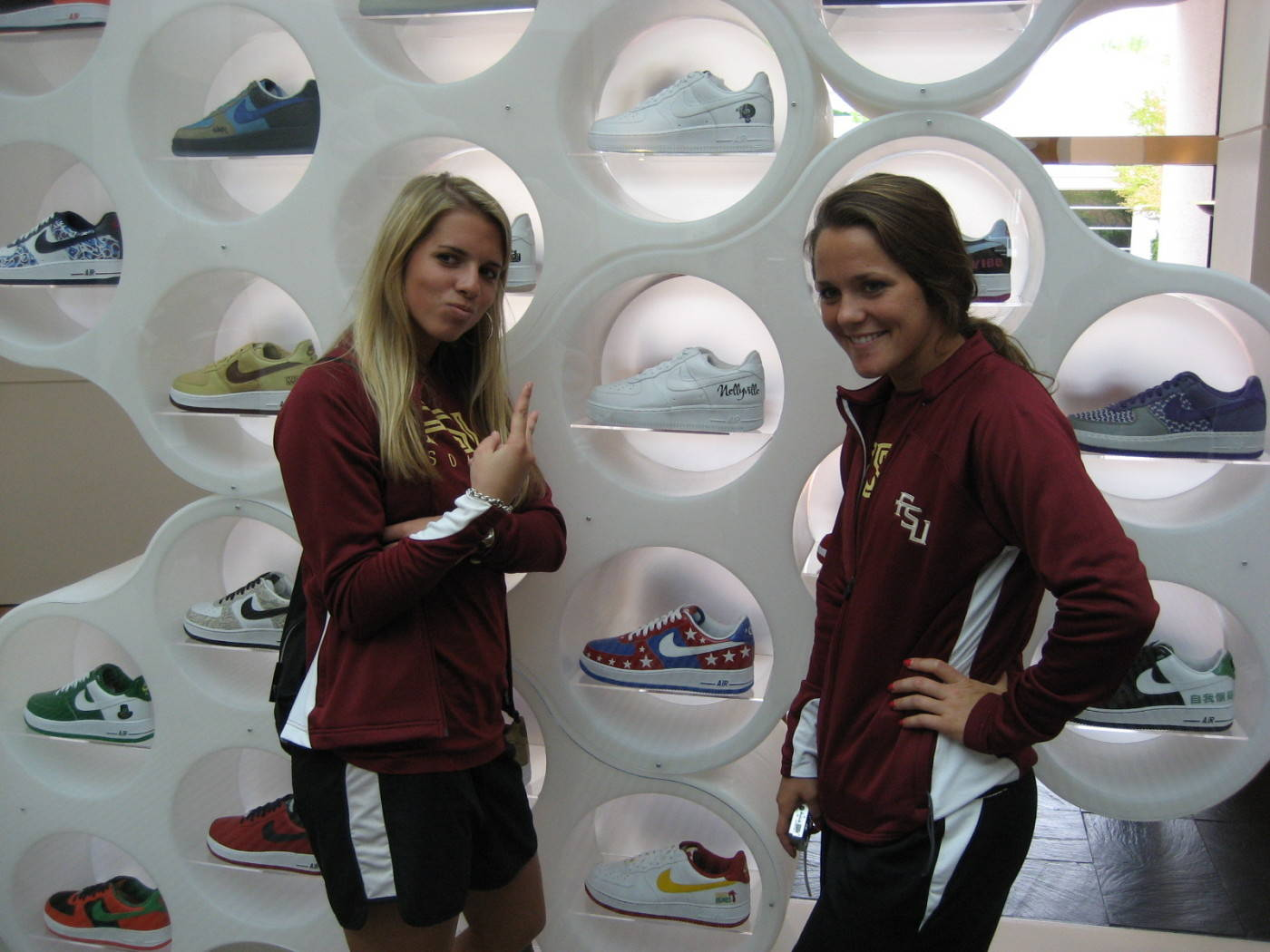 Becky and Annie check out all the Nike shoes in Nike DNA