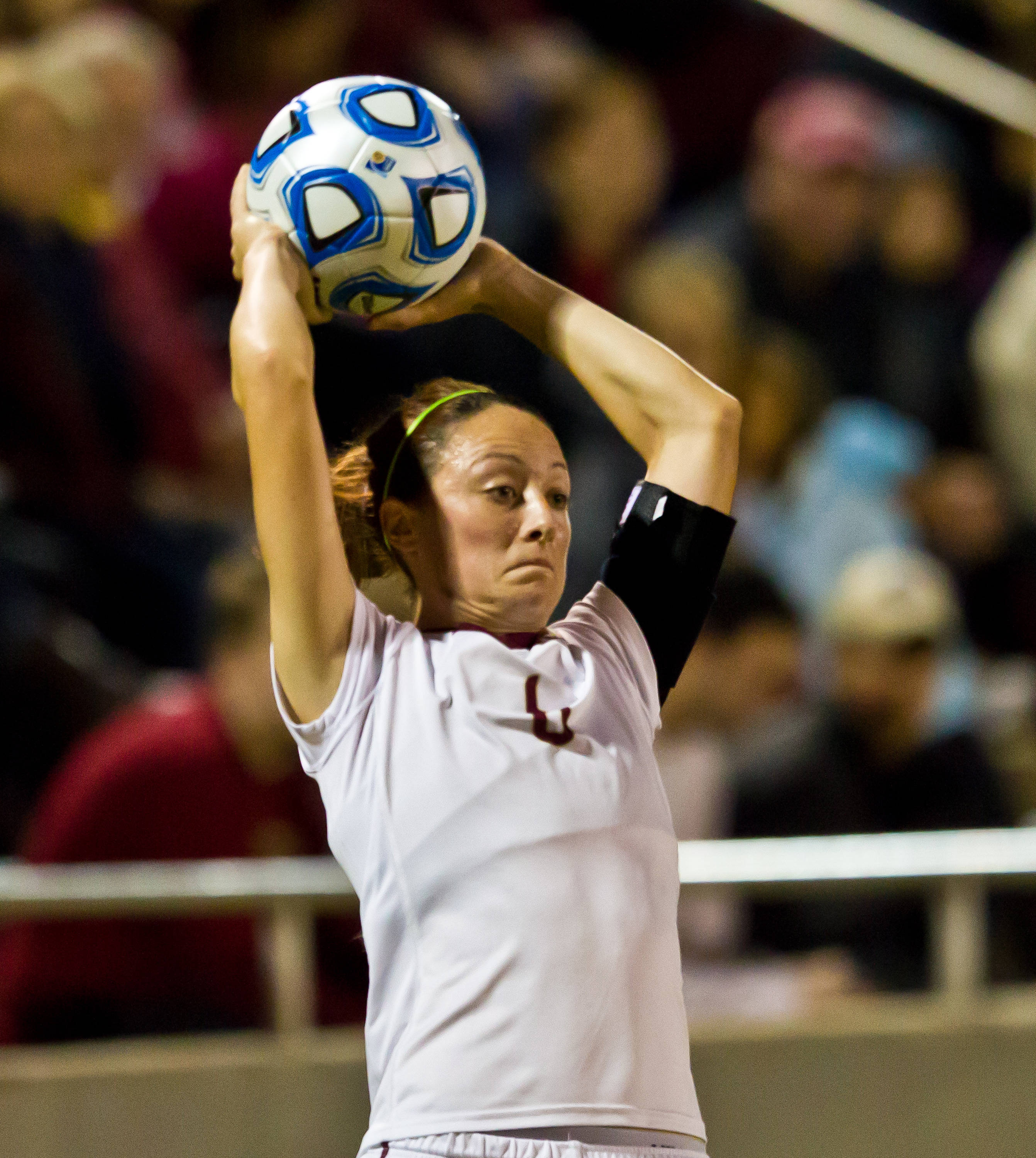 Megan Campbell (6) recorded as assist on her throw-in to Kassey Kallman.