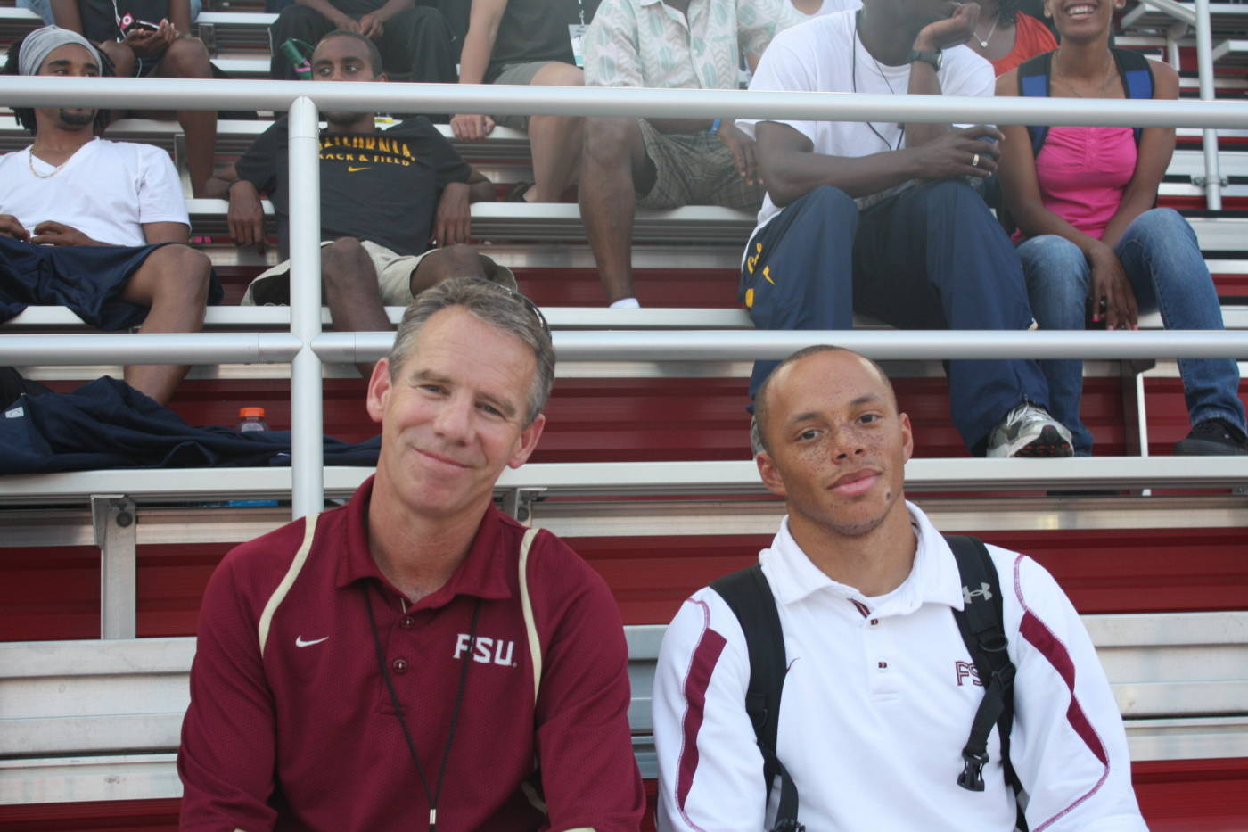 Head Coach Bob Braman and graduate assistant trainer Greg Byrd.