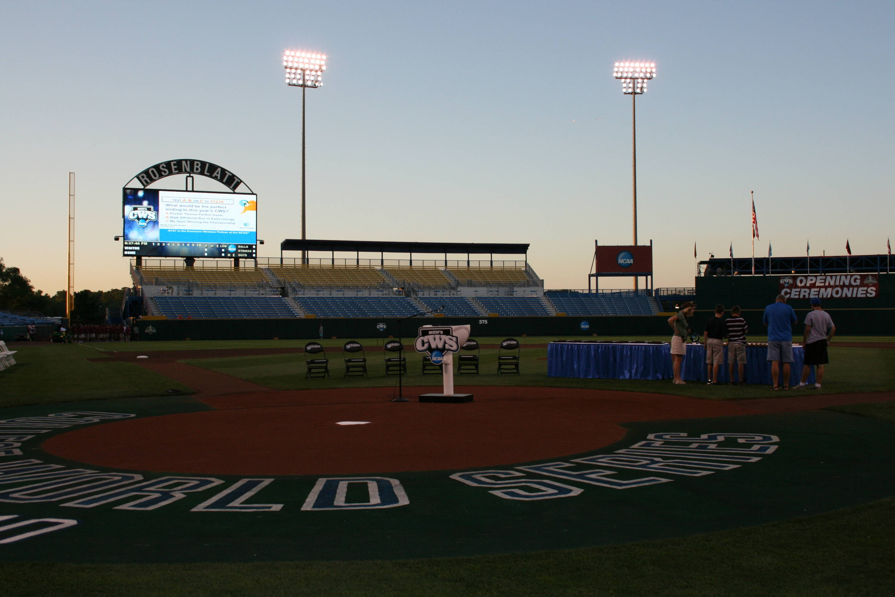 Opening ceremonies on Friday night