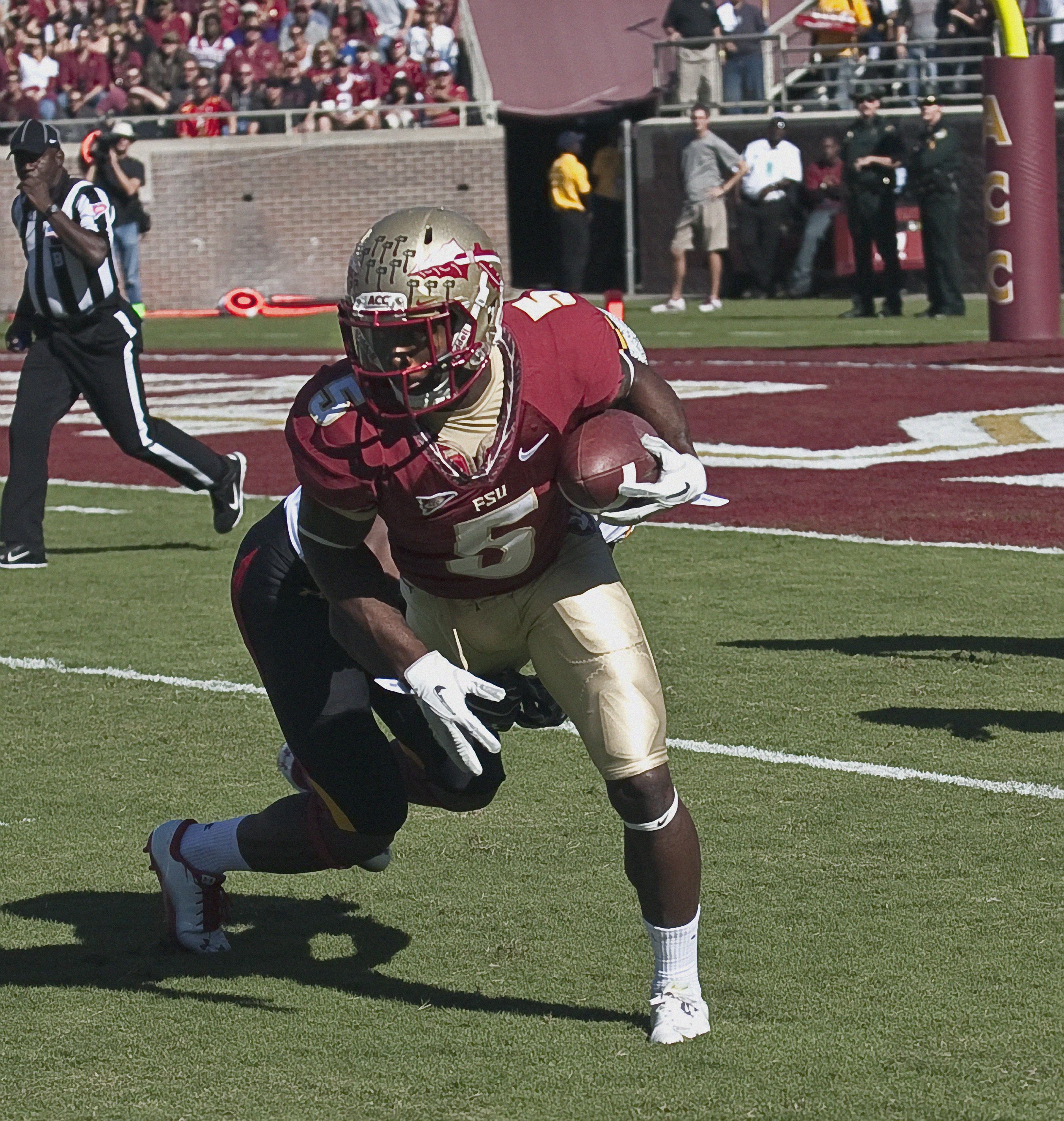 Greg Reid (5) returning a punt. FSU vs Maryland 10/22/1111