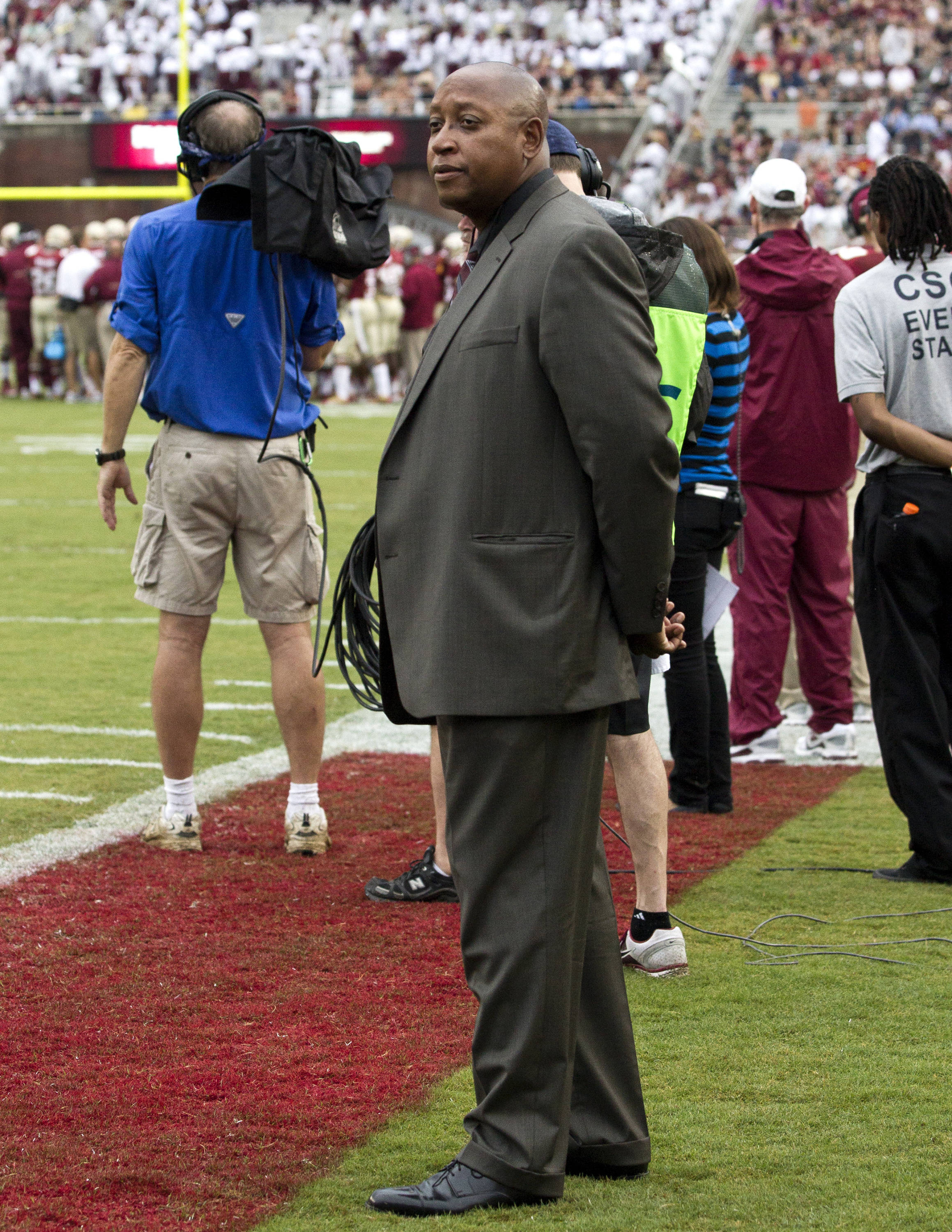 FSU's new Athletic Director Stan Wilcox, FSU vs Bethune-Cookman,  9-21-13, (Photo by Steve Musco)