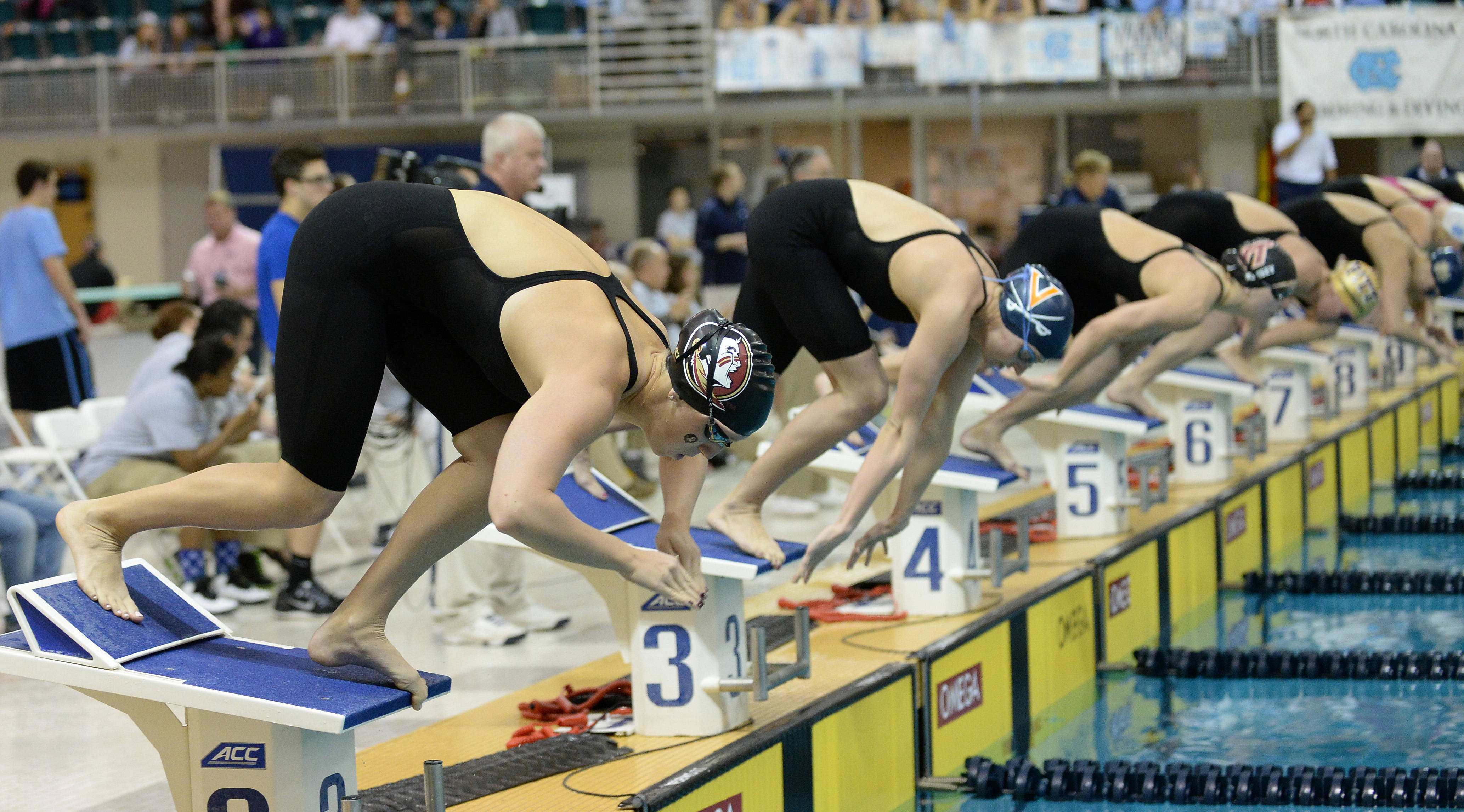 Natalie Pierce takes off in the 200 breast - Mitch White