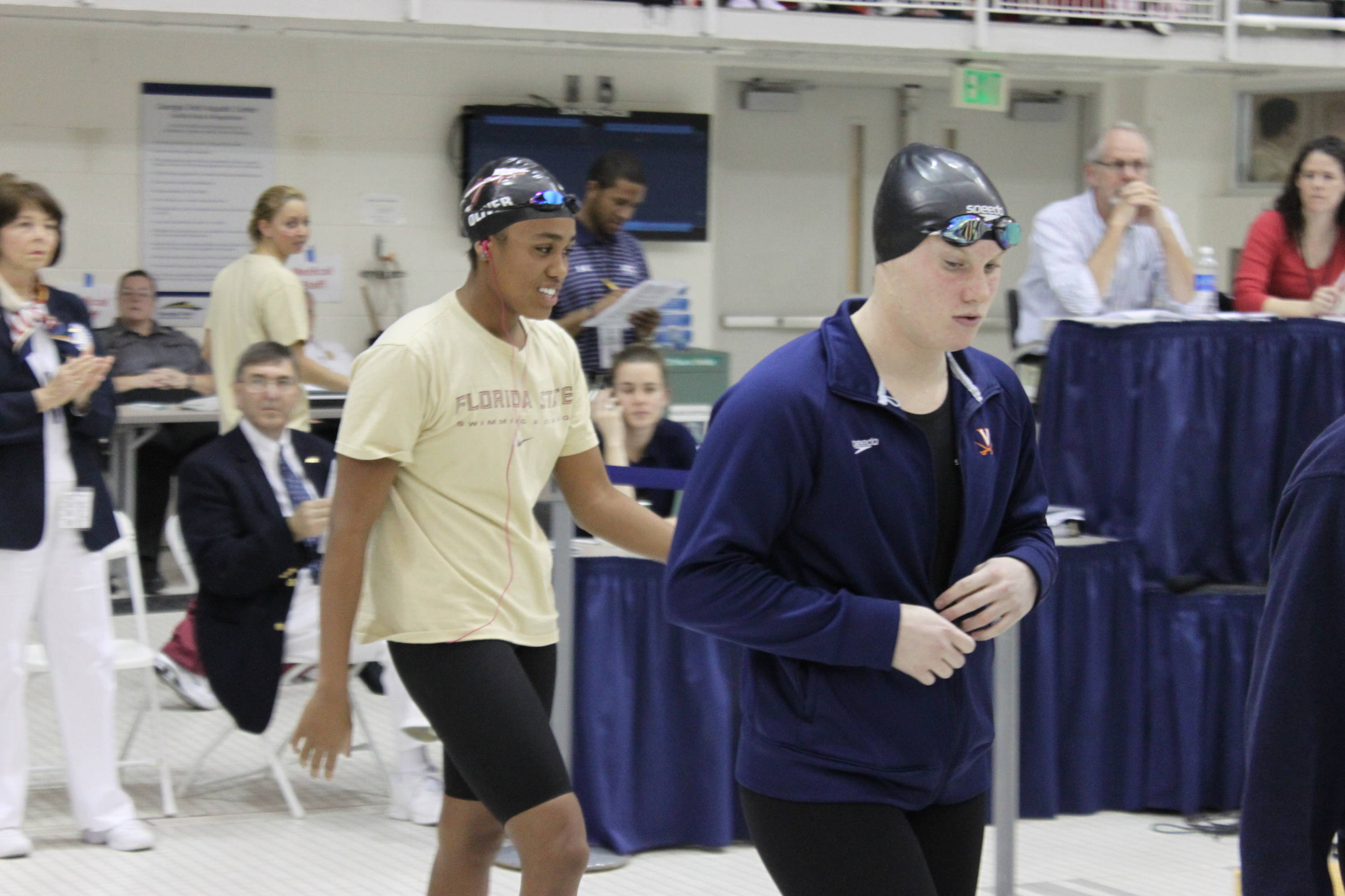 Tiffany Oliver before the final of the 100 free