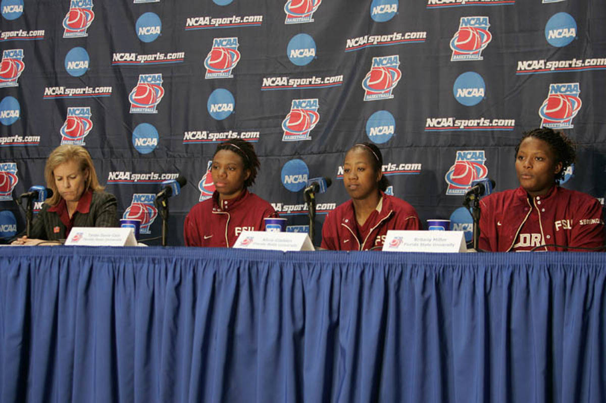 The Seminoles at the postgame press conference.