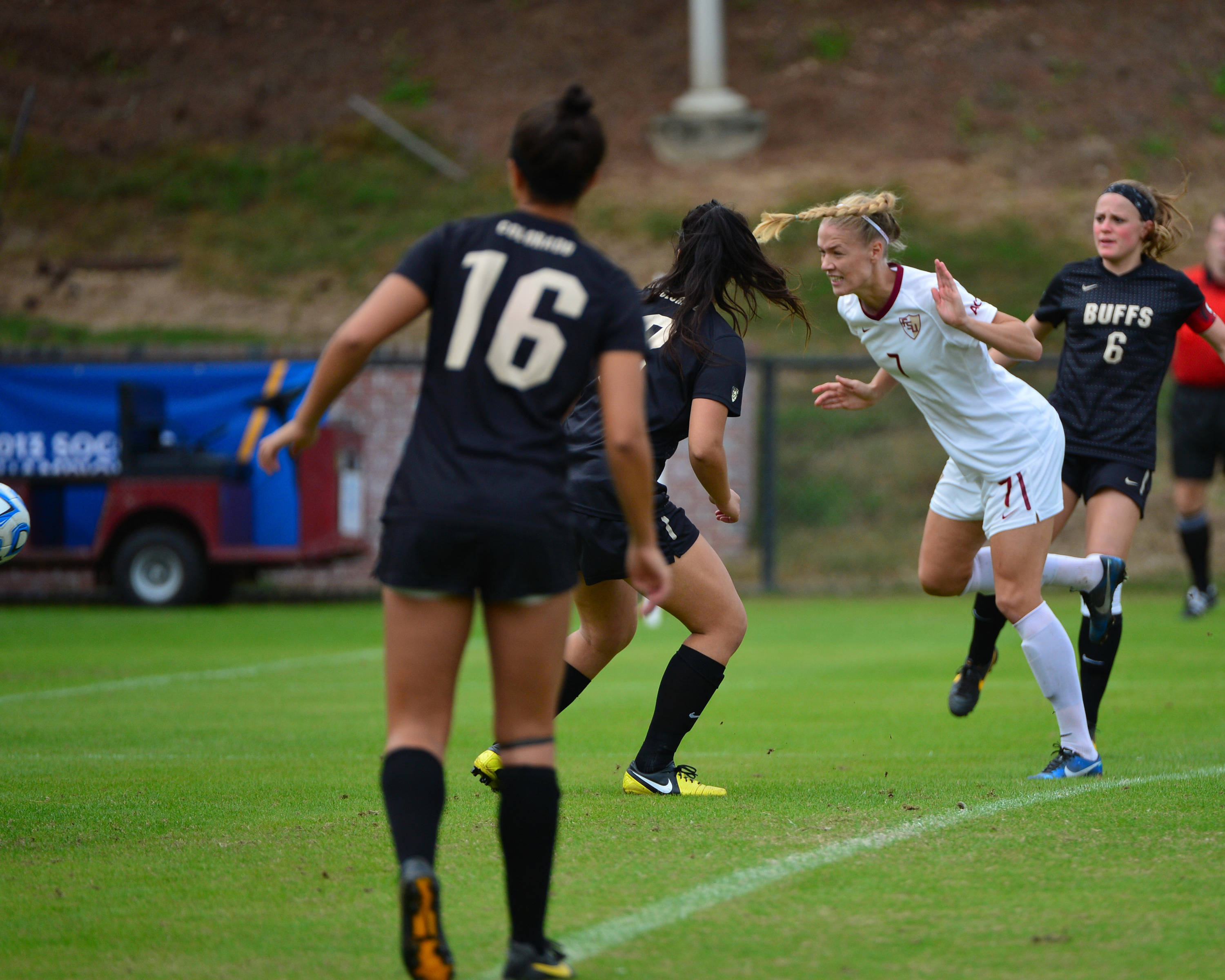 Dagny Brynjarsdottir heads in her first goal of the game just one minute and 19 seconds into the start of the match.