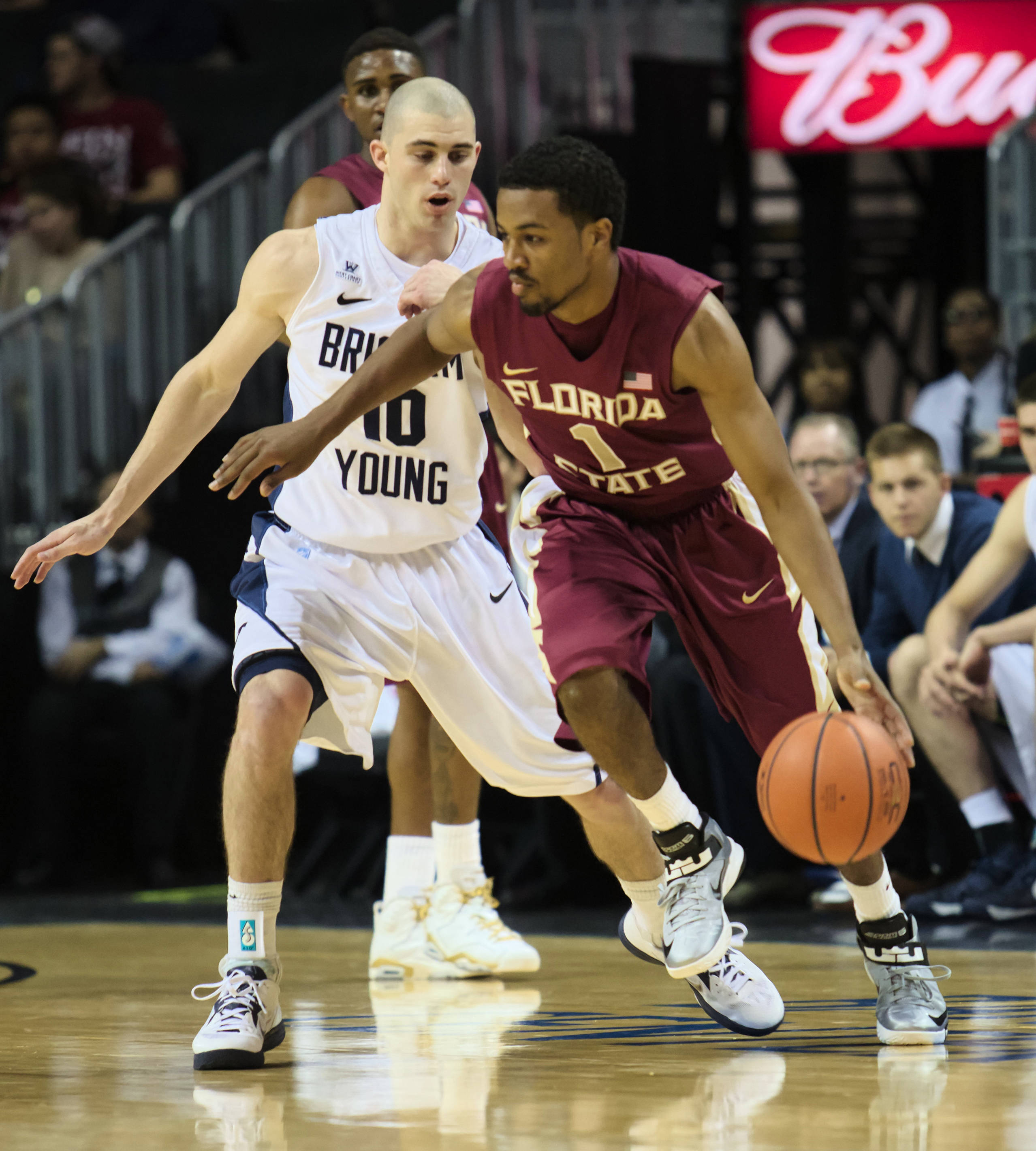 Devon Bookert (1), FSU vs BYU, 11/16/12. (Photo by Steve Musco)
