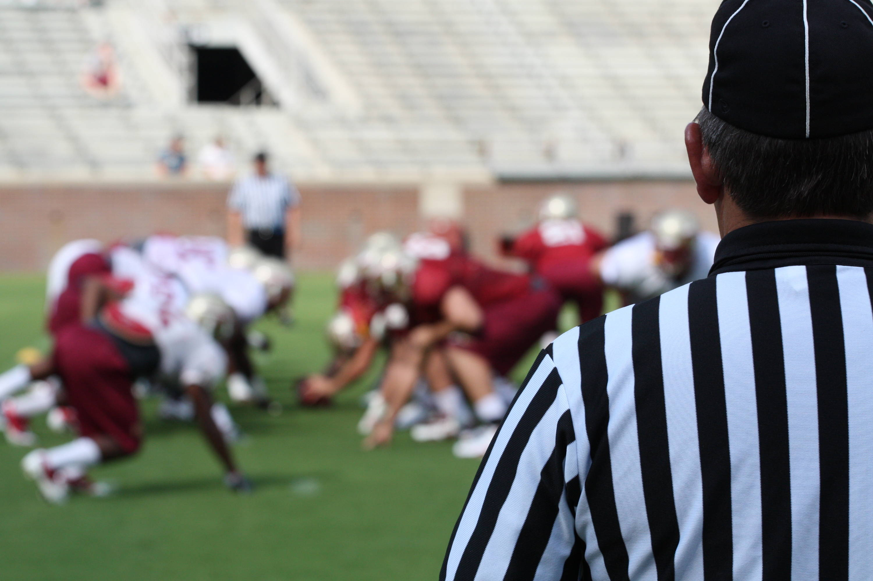 The referees view from Sunday's practice.
