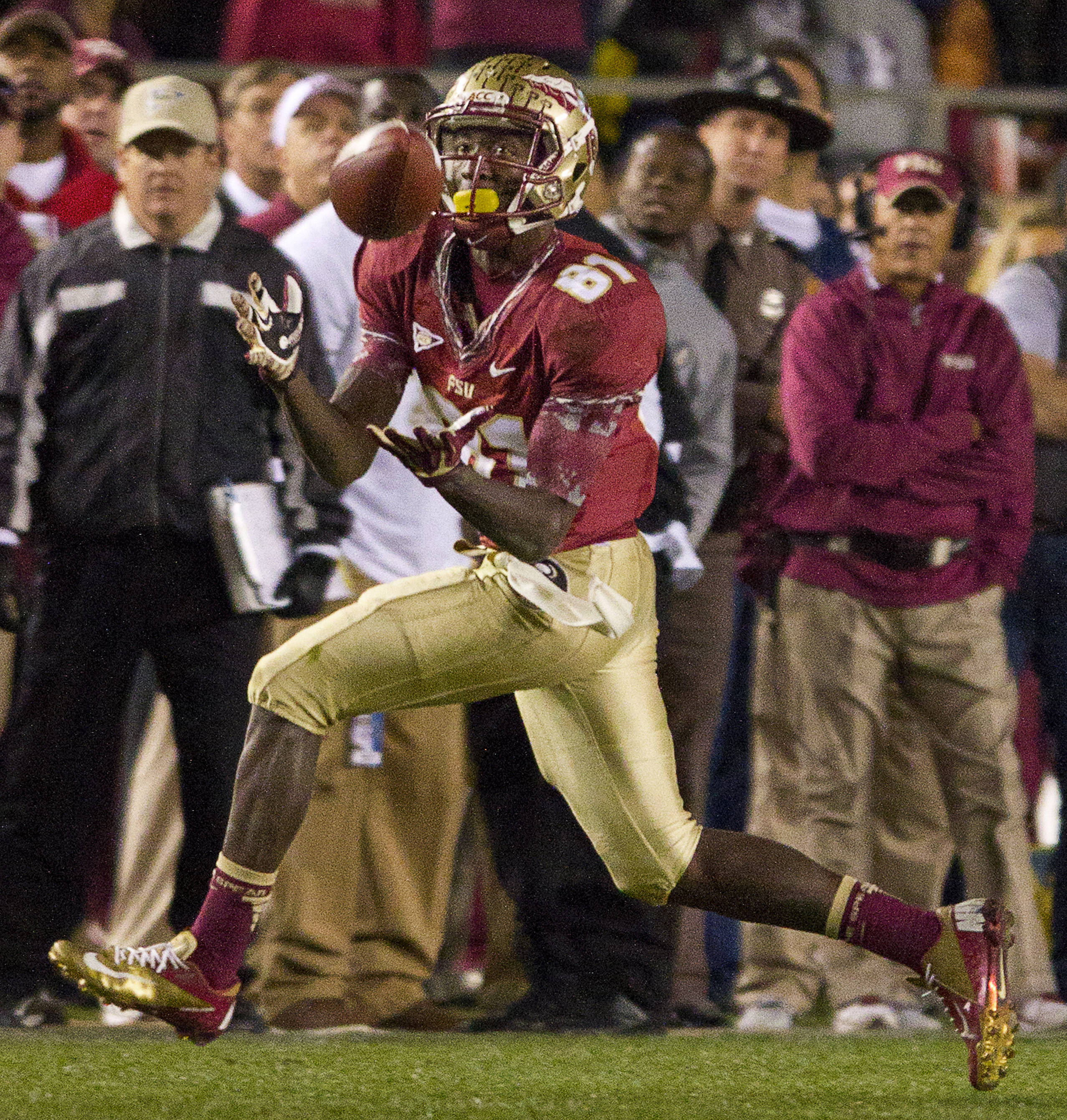 Kenny Shaw (81) makes a reception during FSU Football's game against UF on Saturday, November 24, 2012 in Tallahassee, Fla.