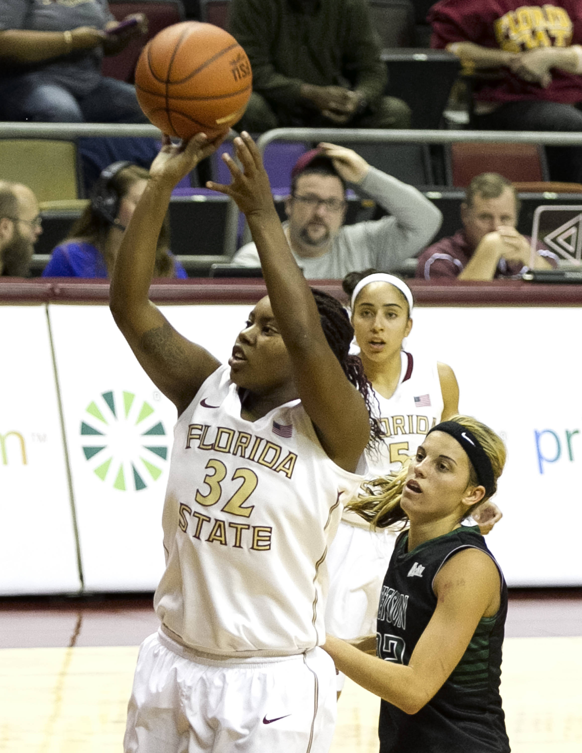 Lauren Coleman (32), FSU vs Stetson, 11-29-13,  (Photo by Steve Musco)