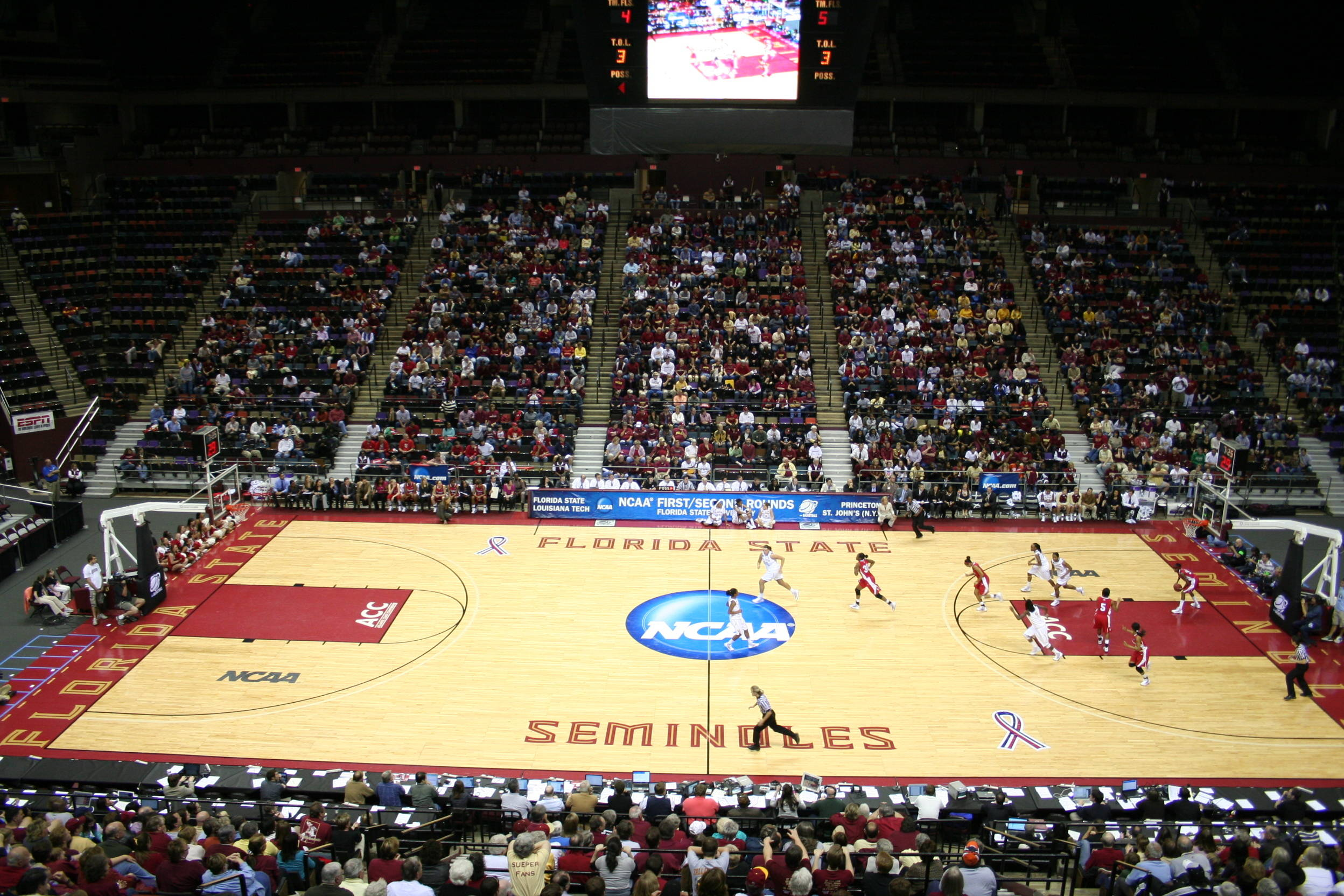 August 26 ... One of the top basketball programs in the country, Florida state served as a host site for the 2010 NCAA Tournament this past March. The Seminoles advanced all the way to the Elite Eight last season.