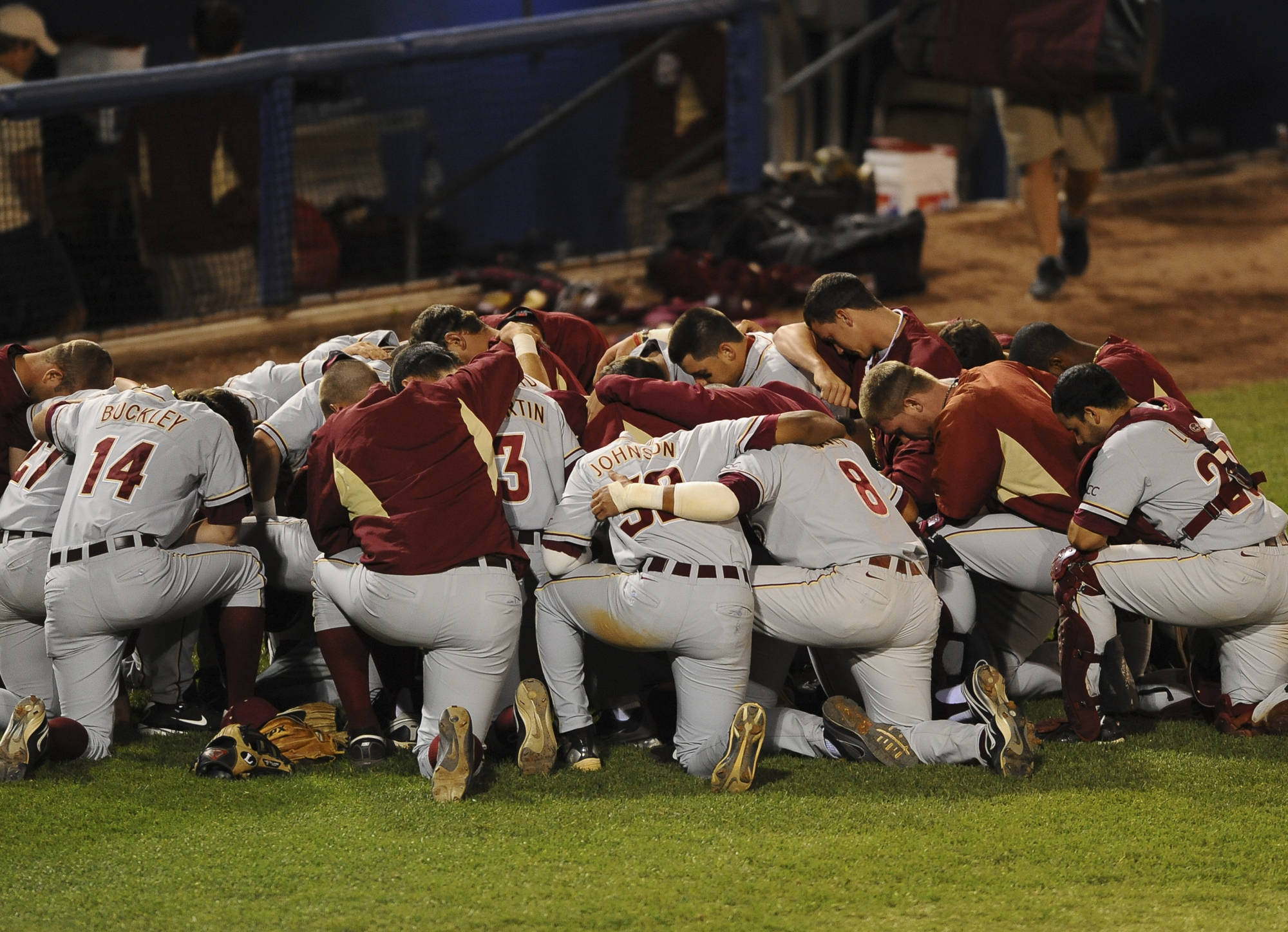 Seminole Team Prayer (Photo Courtesy Steve McLaughlin)